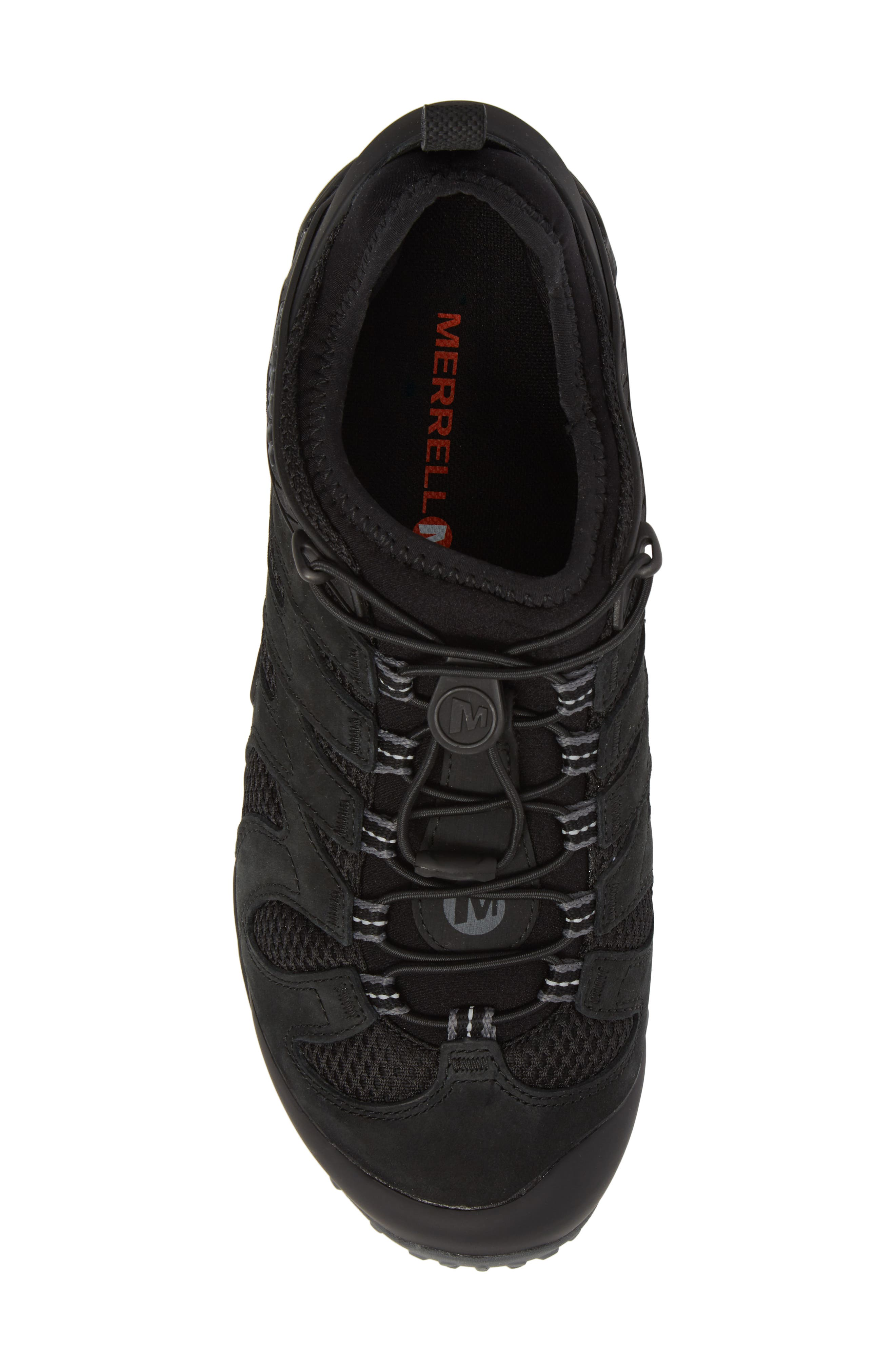 MERRELL,                             Chameleon 7 Stretch Hiking Shoe,                             Alternate thumbnail 5, color,                             BLACK