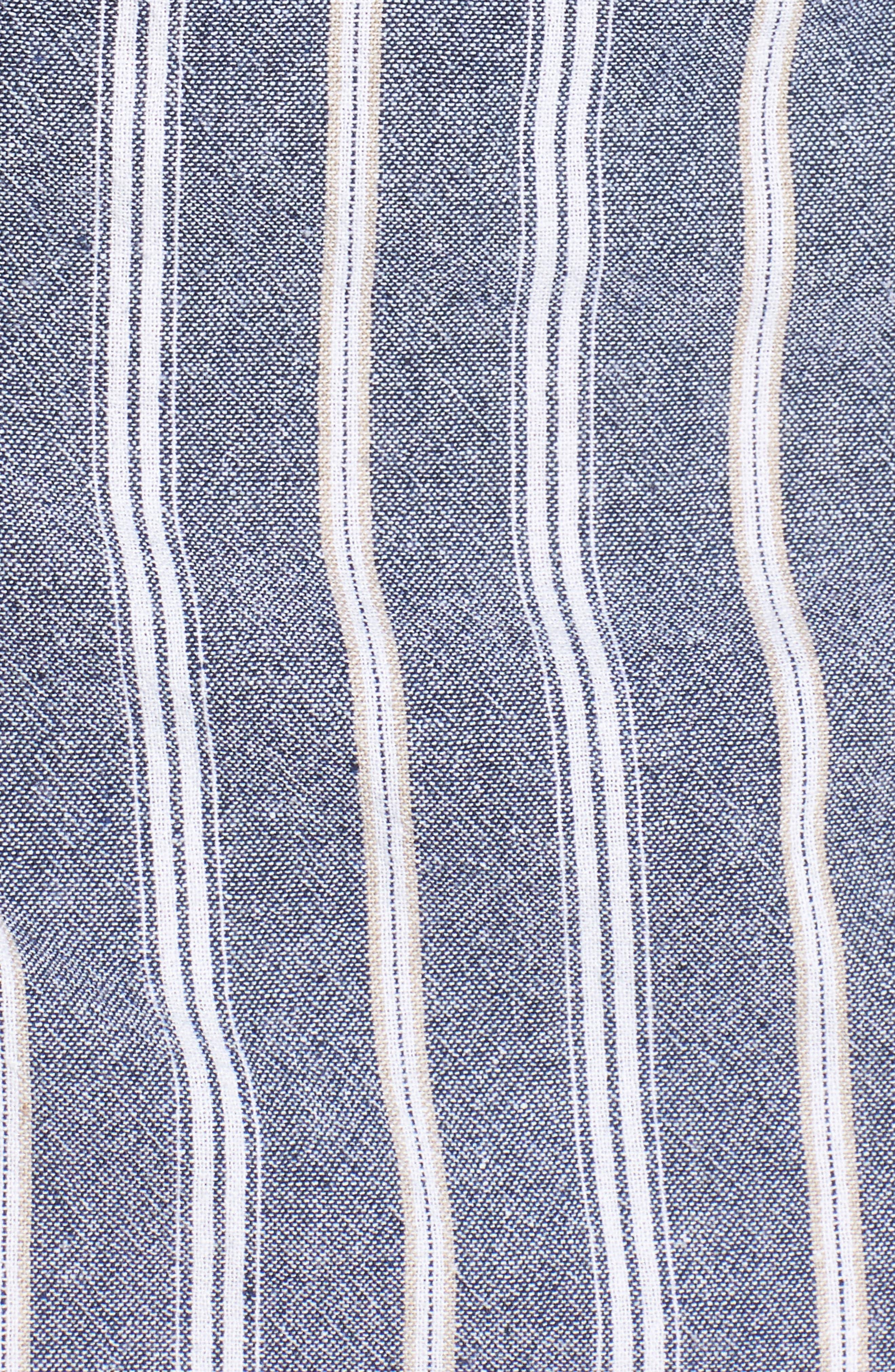 Voyage Stripe Wrap Dress,                             Alternate thumbnail 5, color,                             400