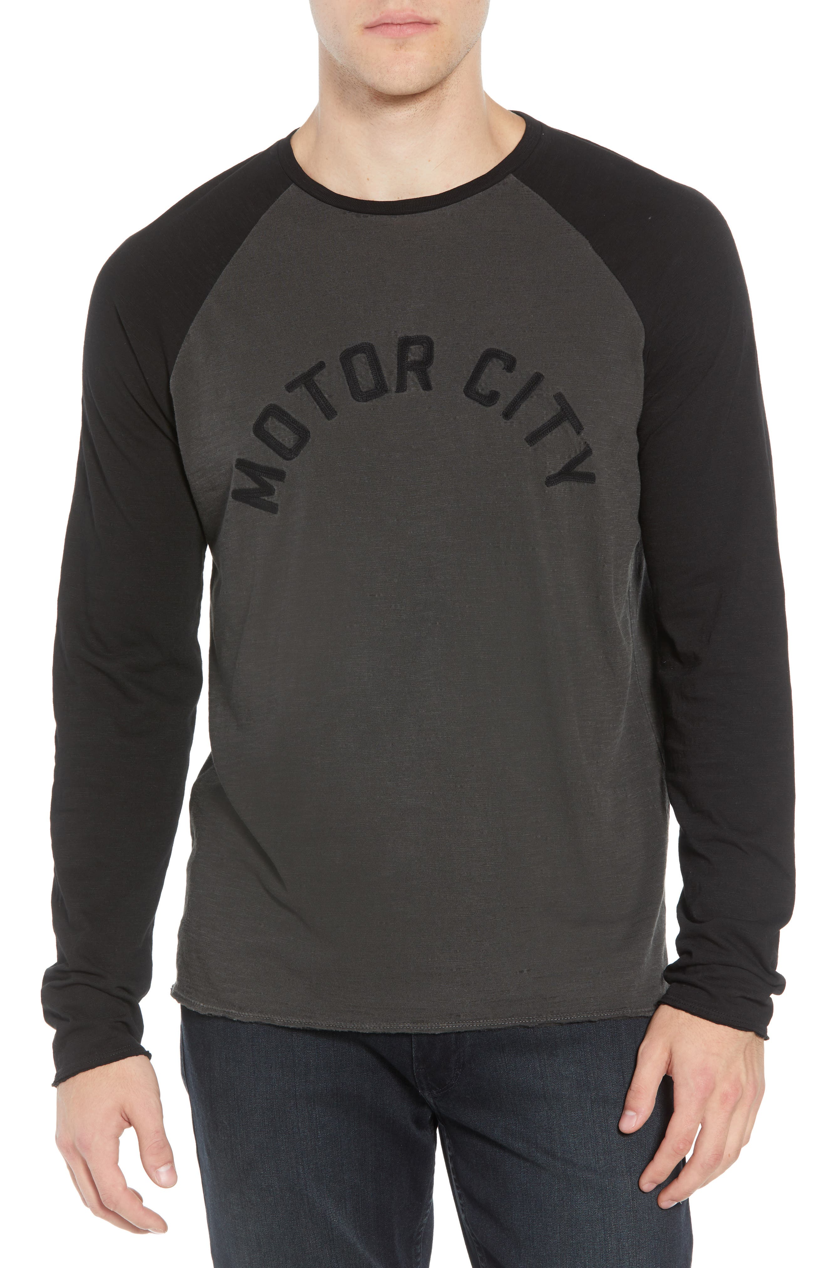 Motor City Long Sleeve T-Shirt,                             Main thumbnail 1, color,                             COAL