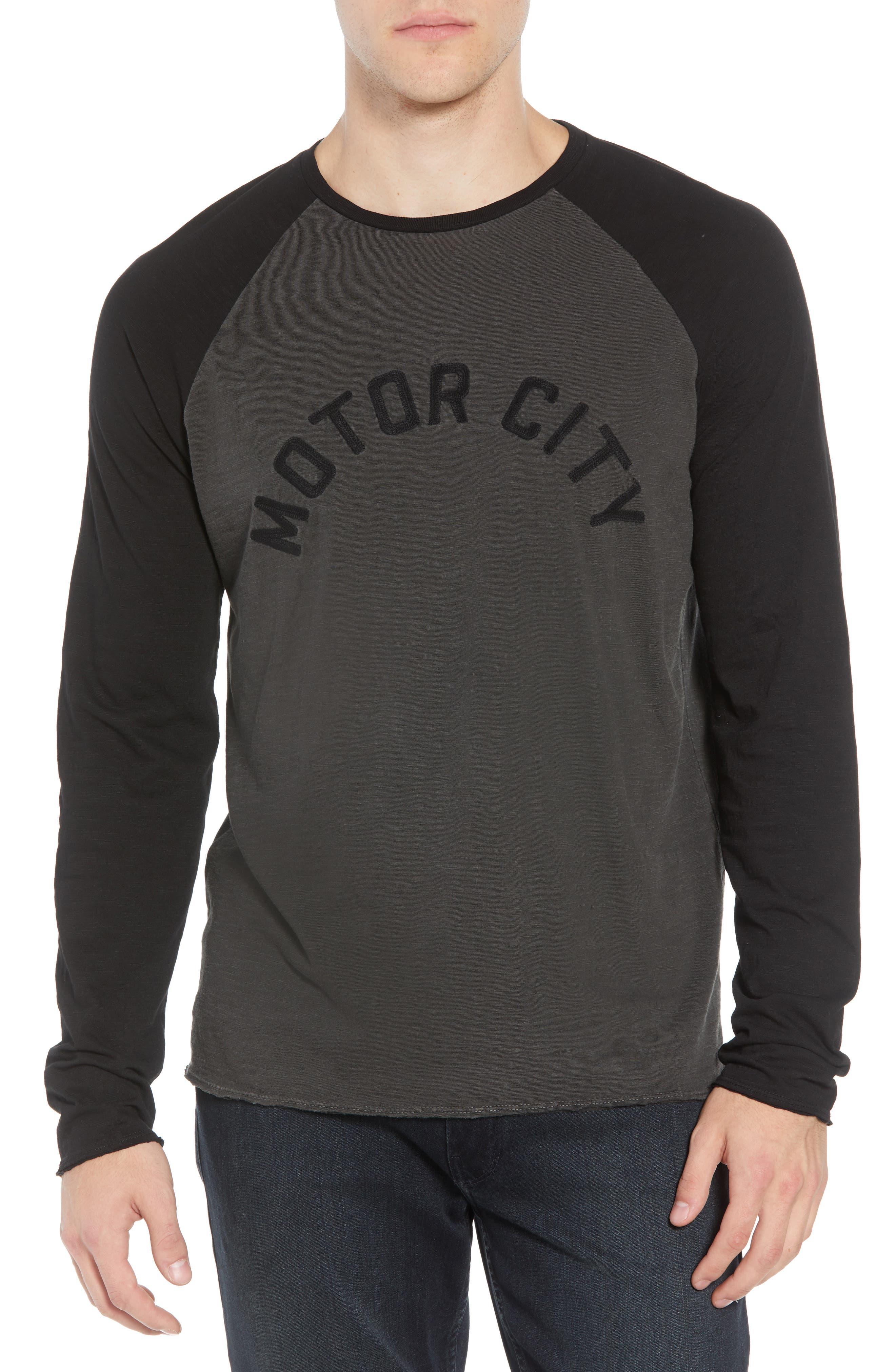 Motor City Long Sleeve T-Shirt,                         Main,                         color, COAL