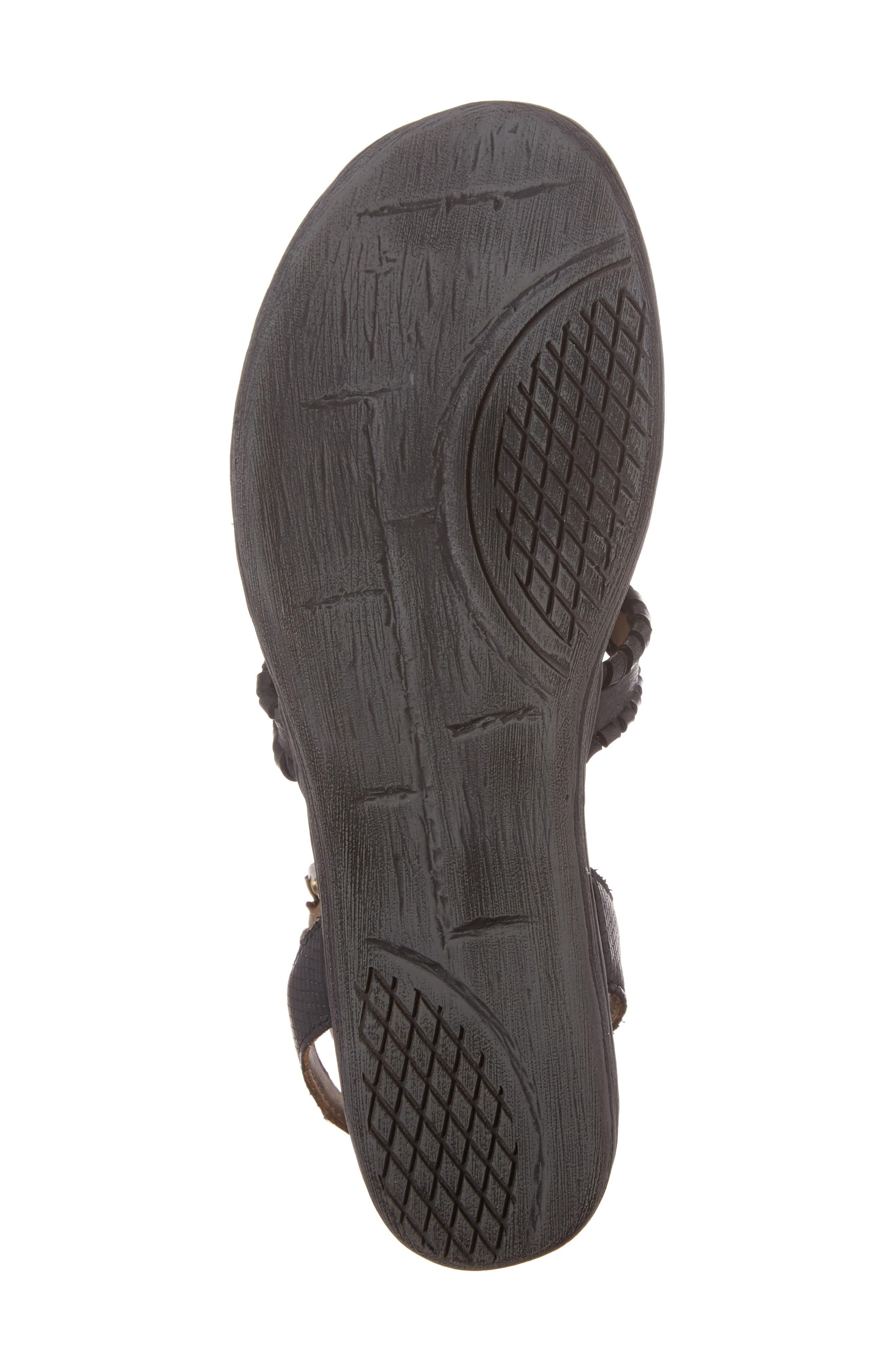 Celestial V-Strap Wedge Sandal,                             Alternate thumbnail 6, color,                             001