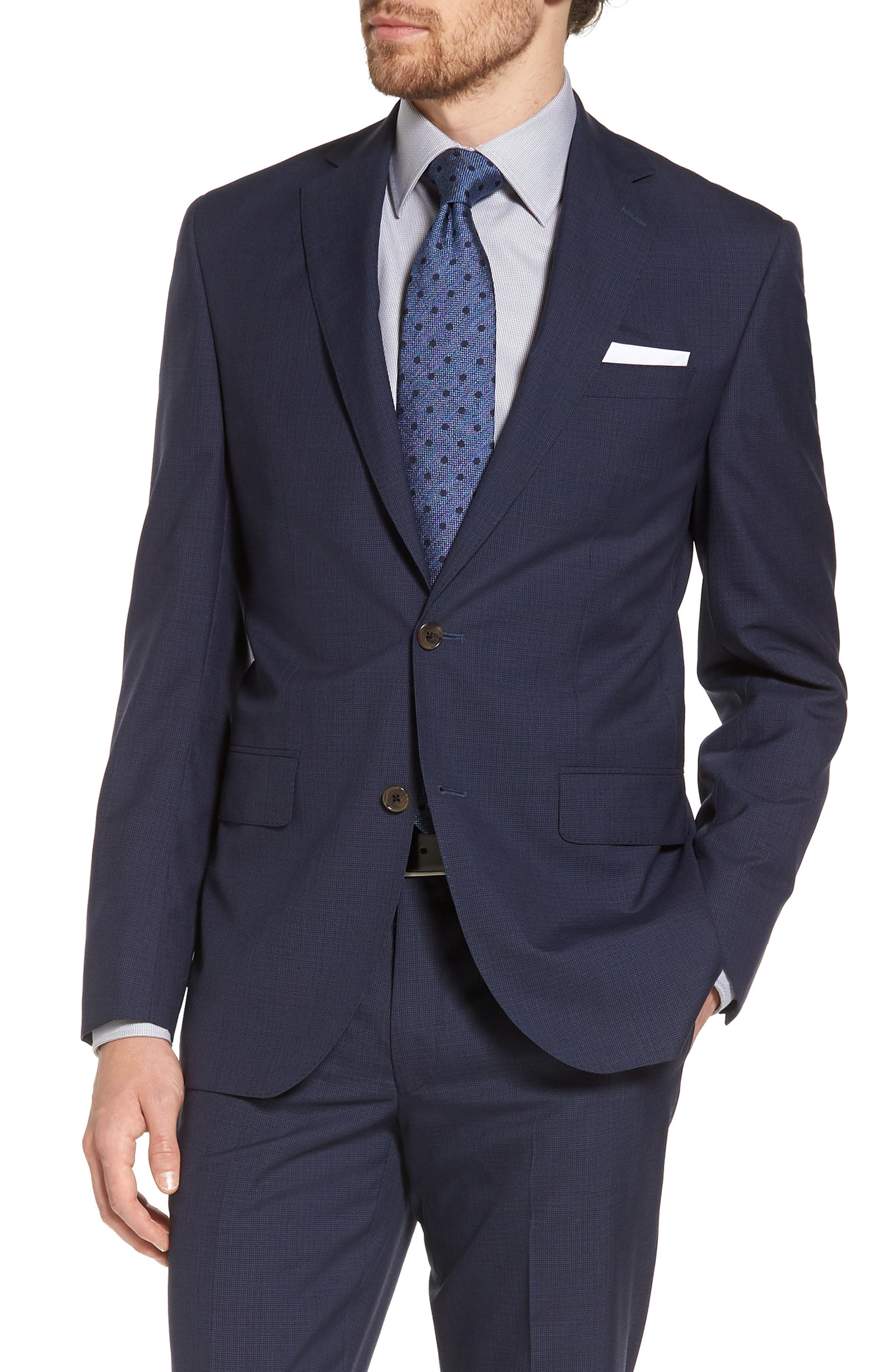 Ryan Classic Fit Houndstooth Wool Suit,                             Alternate thumbnail 5, color,                             410
