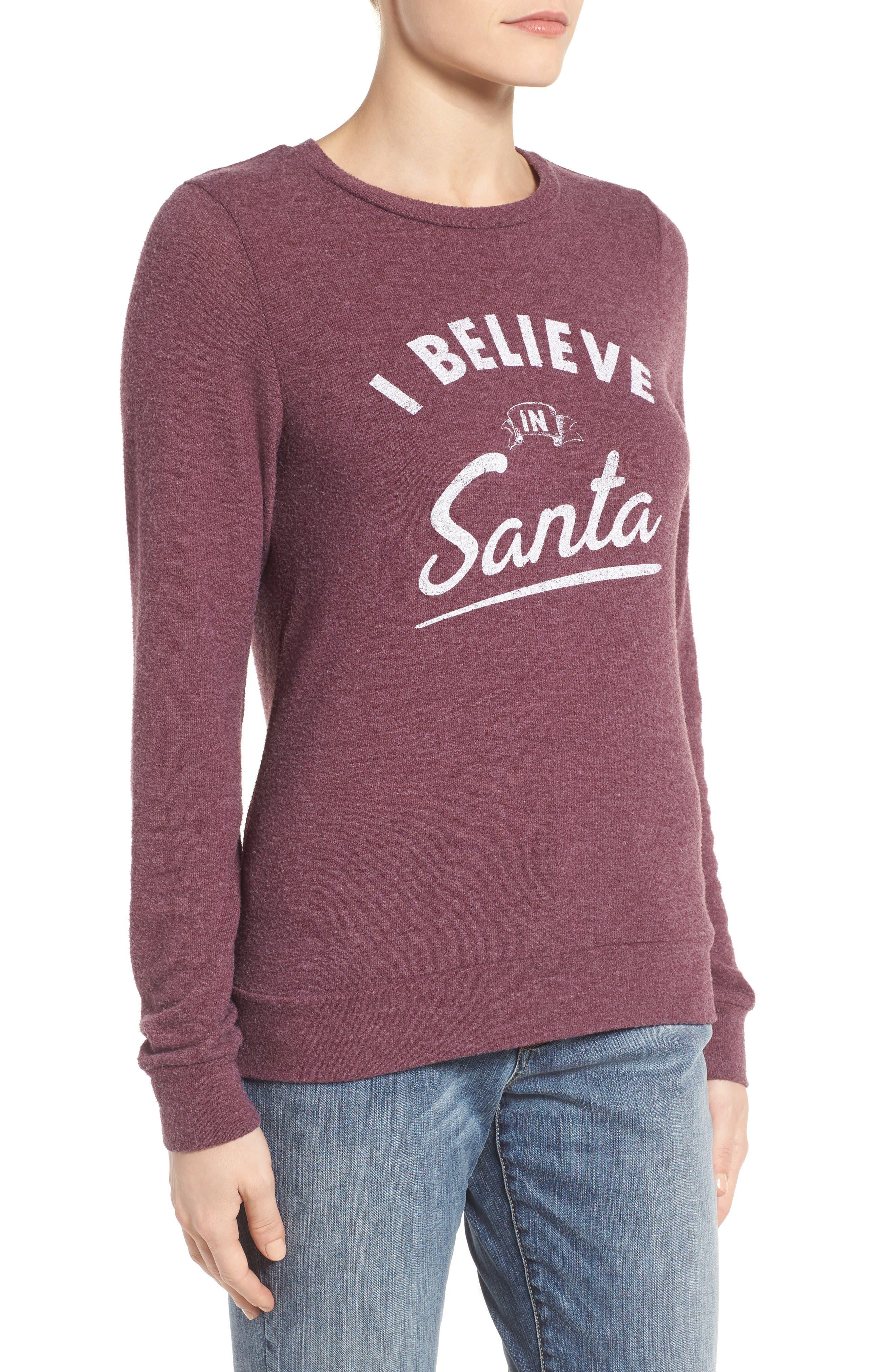 I Believe in Santa Sweatshirt,                             Alternate thumbnail 3, color,                             930