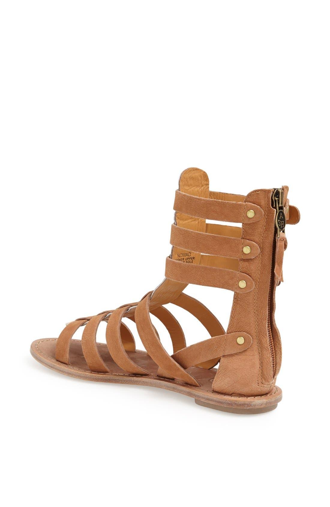 ASH,                             'Nomad' Gladiator Sandal,                             Alternate thumbnail 3, color,                             200