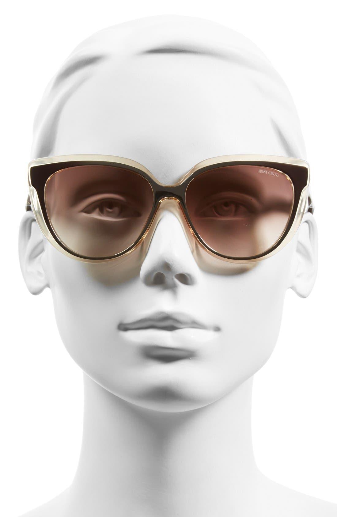 'Cindy' 57mm Retro Sunglasses,                             Alternate thumbnail 5, color,