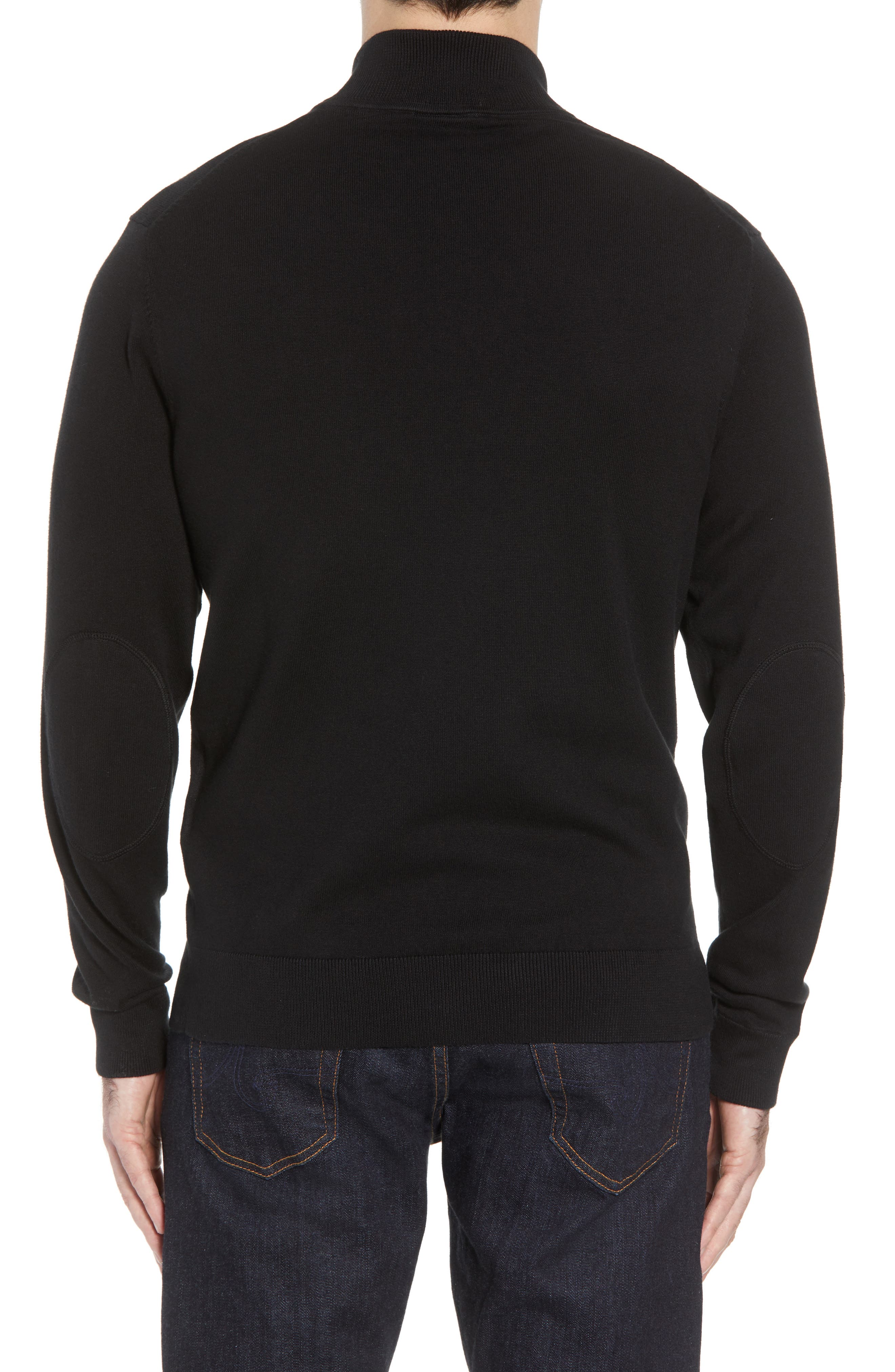 Philadelphia Eagles - Lakemont Regular Fit Quarter Zip Sweater,                             Alternate thumbnail 2, color,                             BLACK