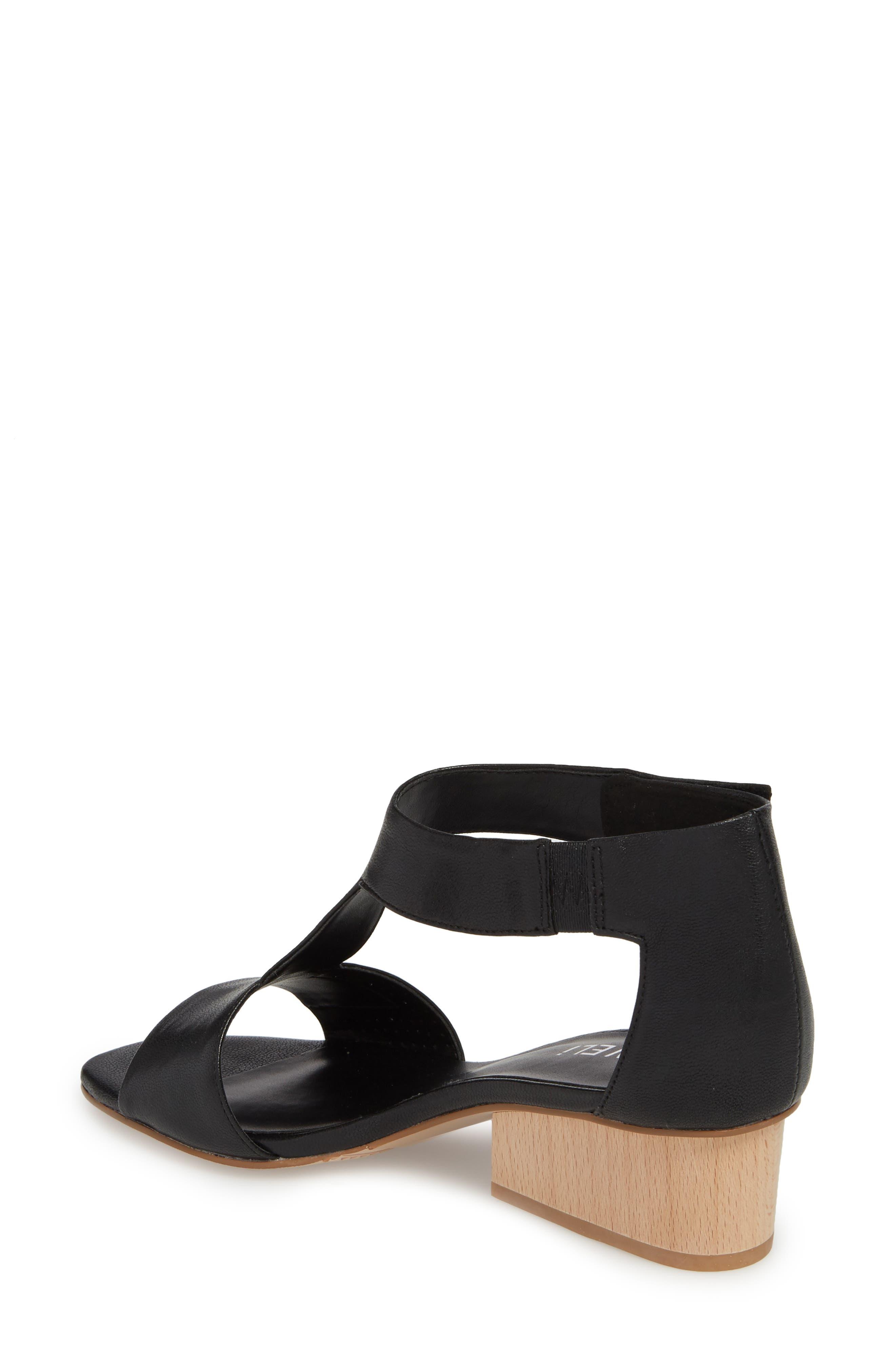 Calyx Block Heel Sandal,                             Alternate thumbnail 2, color,                             BLACK LEATHER