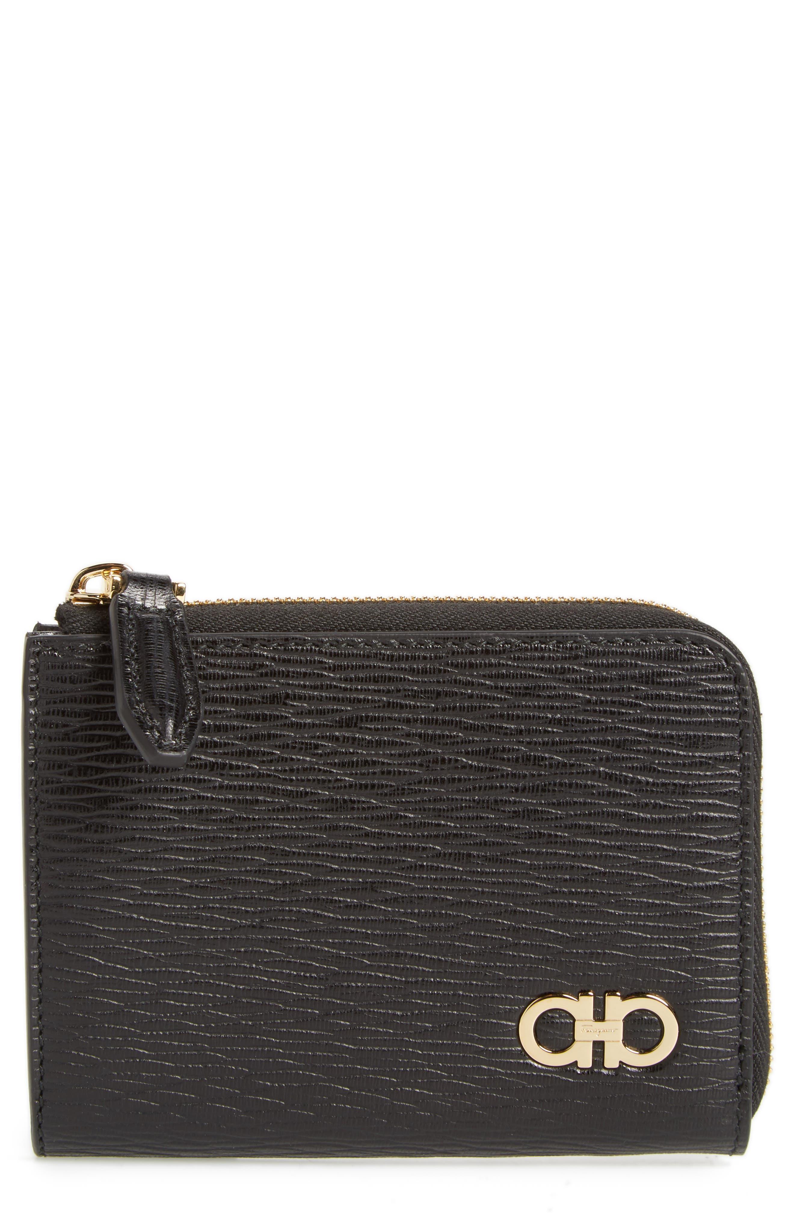 Revival Leather Zip Wallet,                         Main,                         color, 001