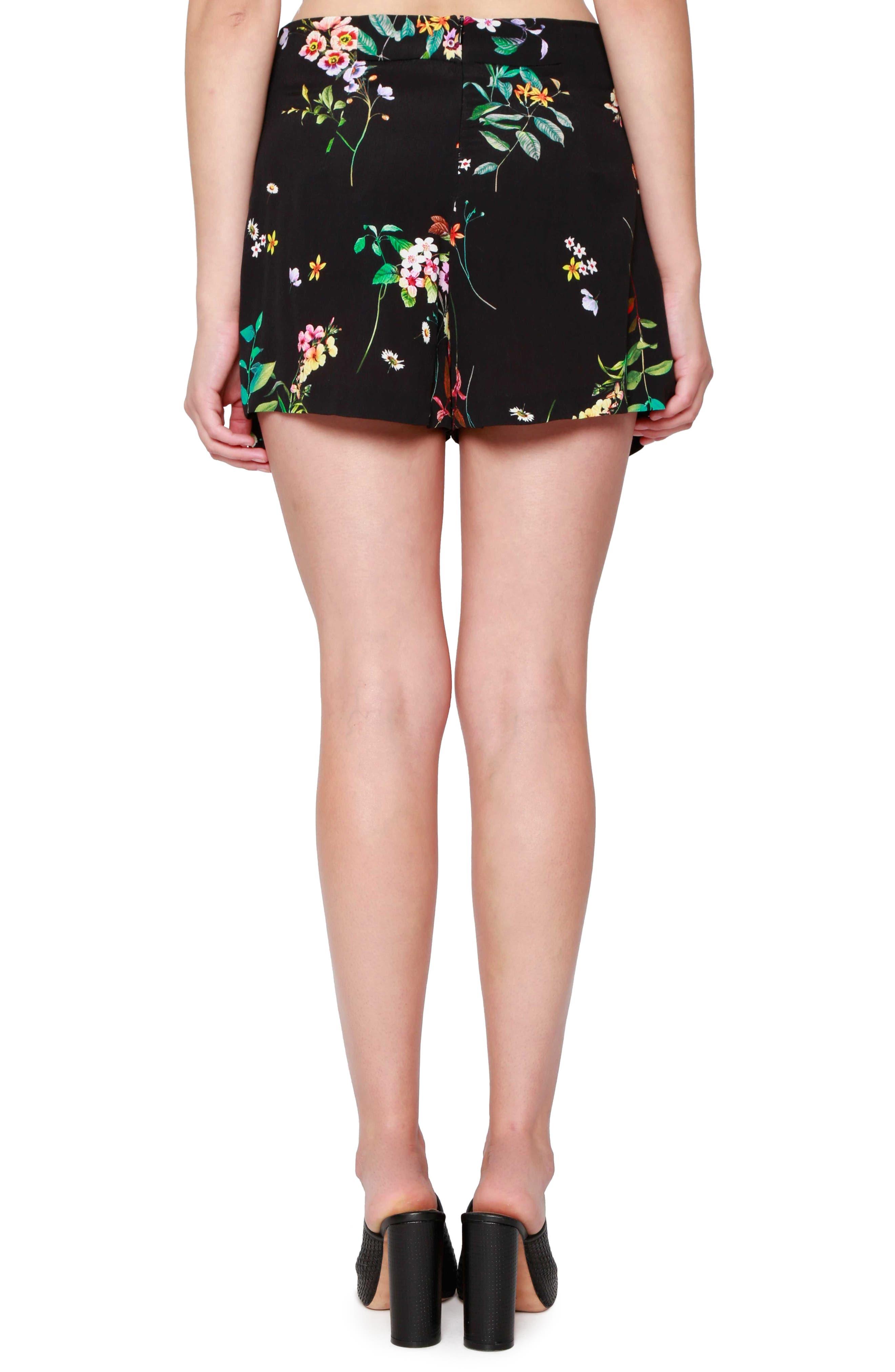 Floral Print Sailor Shorts,                             Alternate thumbnail 2, color,                             001