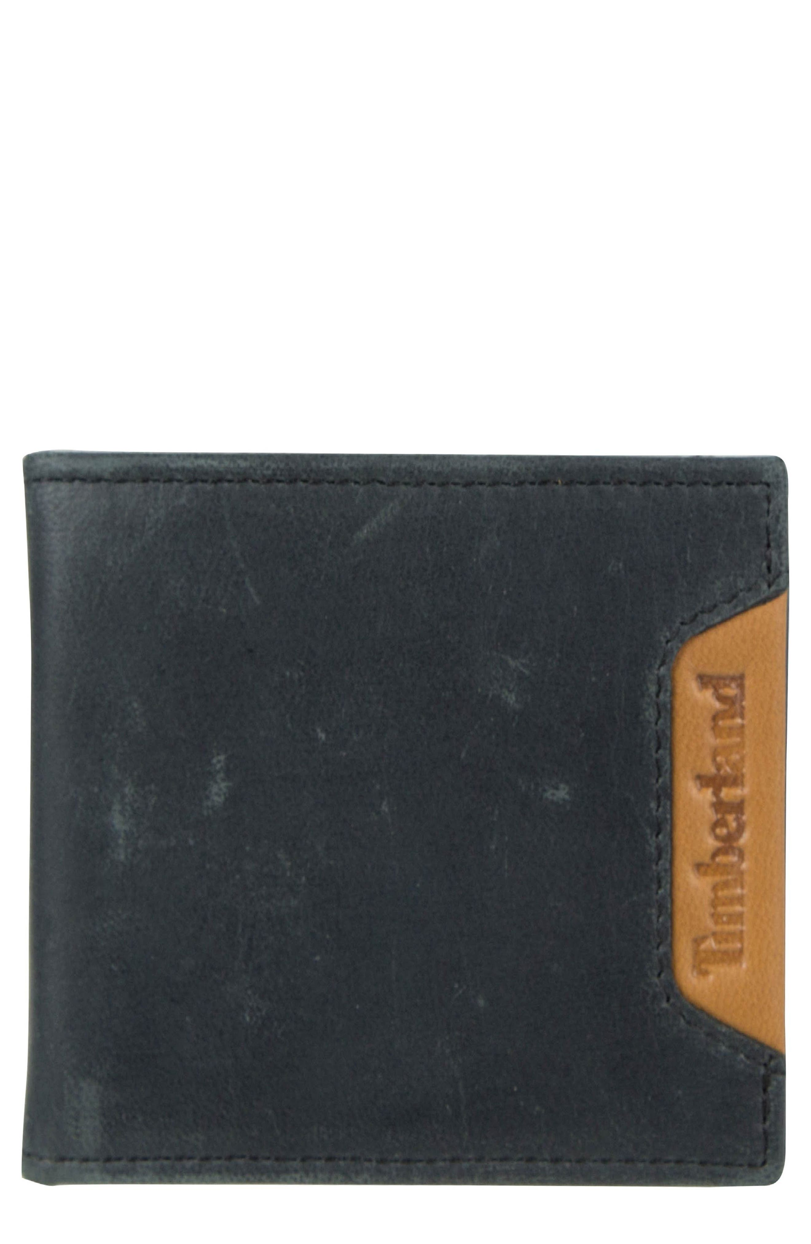 Cloudy Leather Wallet,                         Main,                         color, 001