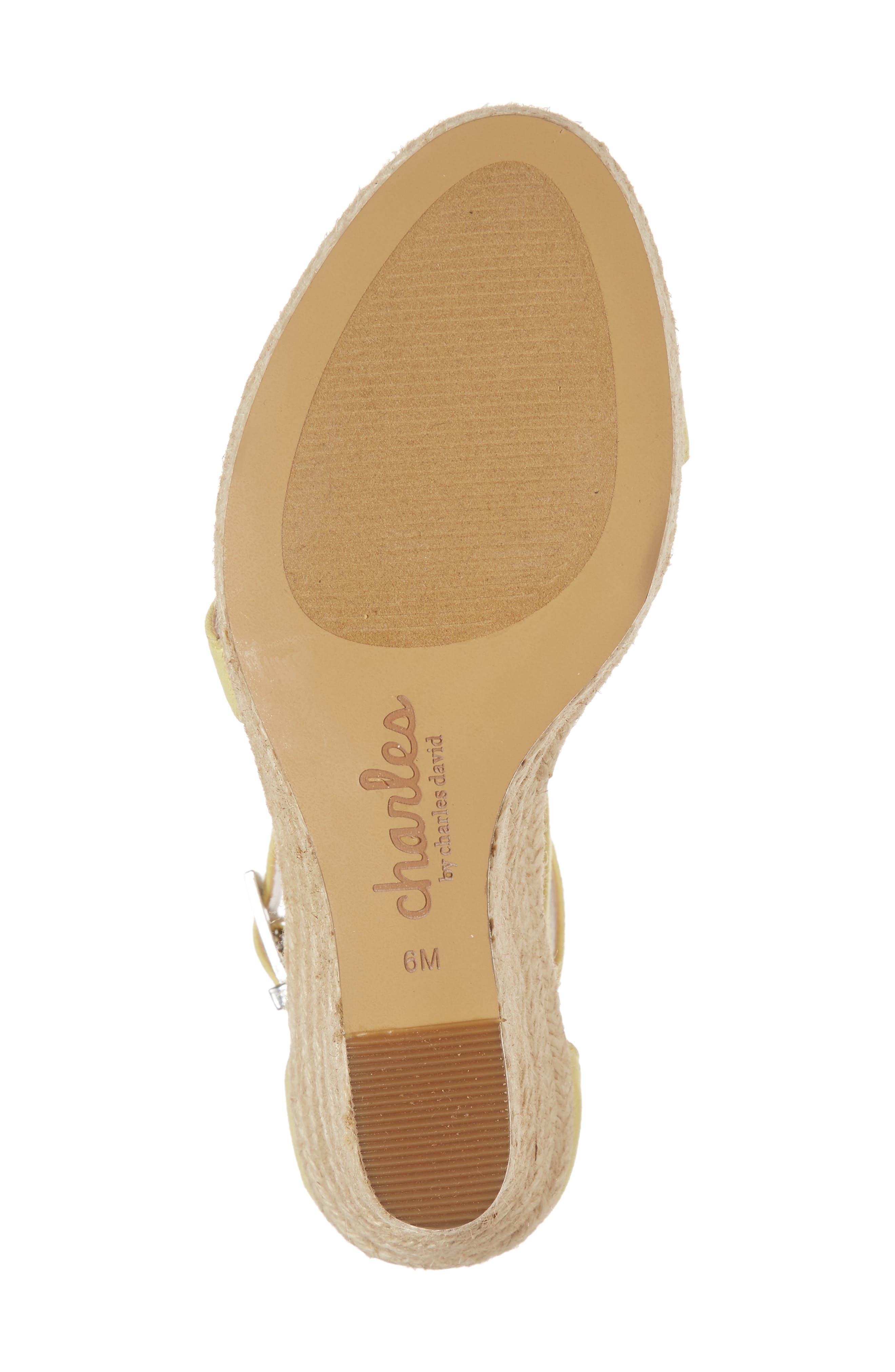 Lou Asymmetrical Wedge Sandal,                             Alternate thumbnail 6, color,                             BUTTERCUP SUEDE