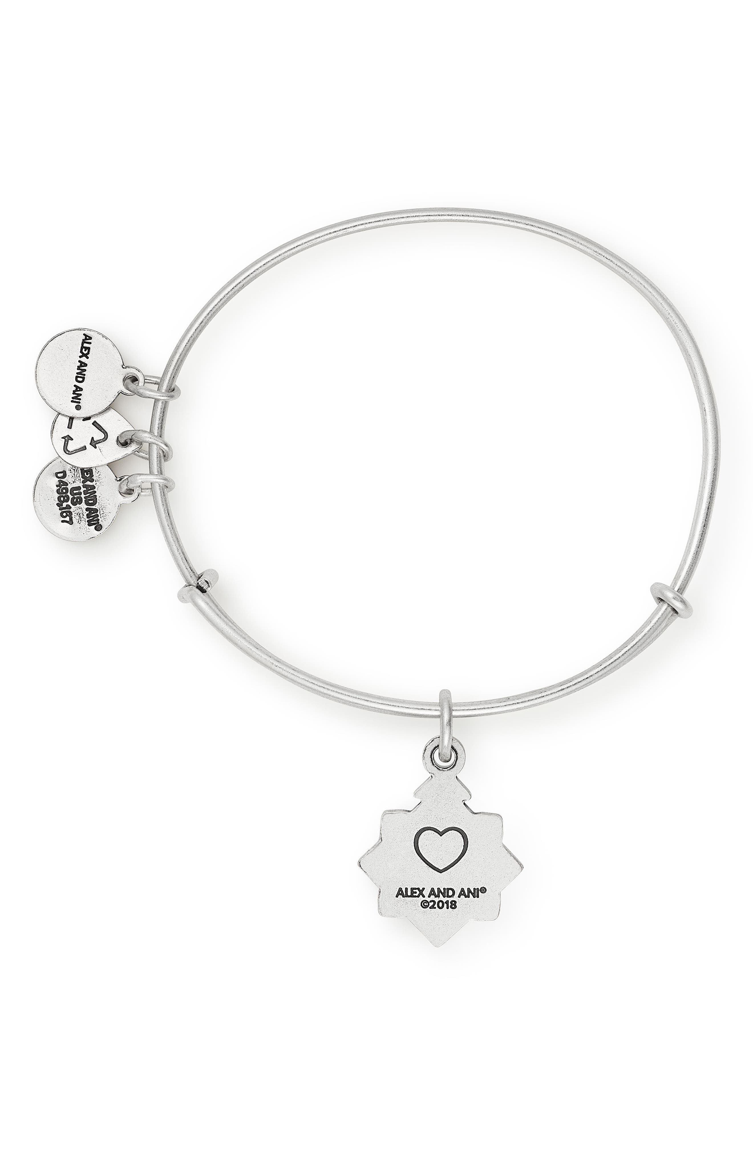 ALEX AND ANI,                             Because I Love You Friend Bracelet,                             Alternate thumbnail 2, color,                             SILVER