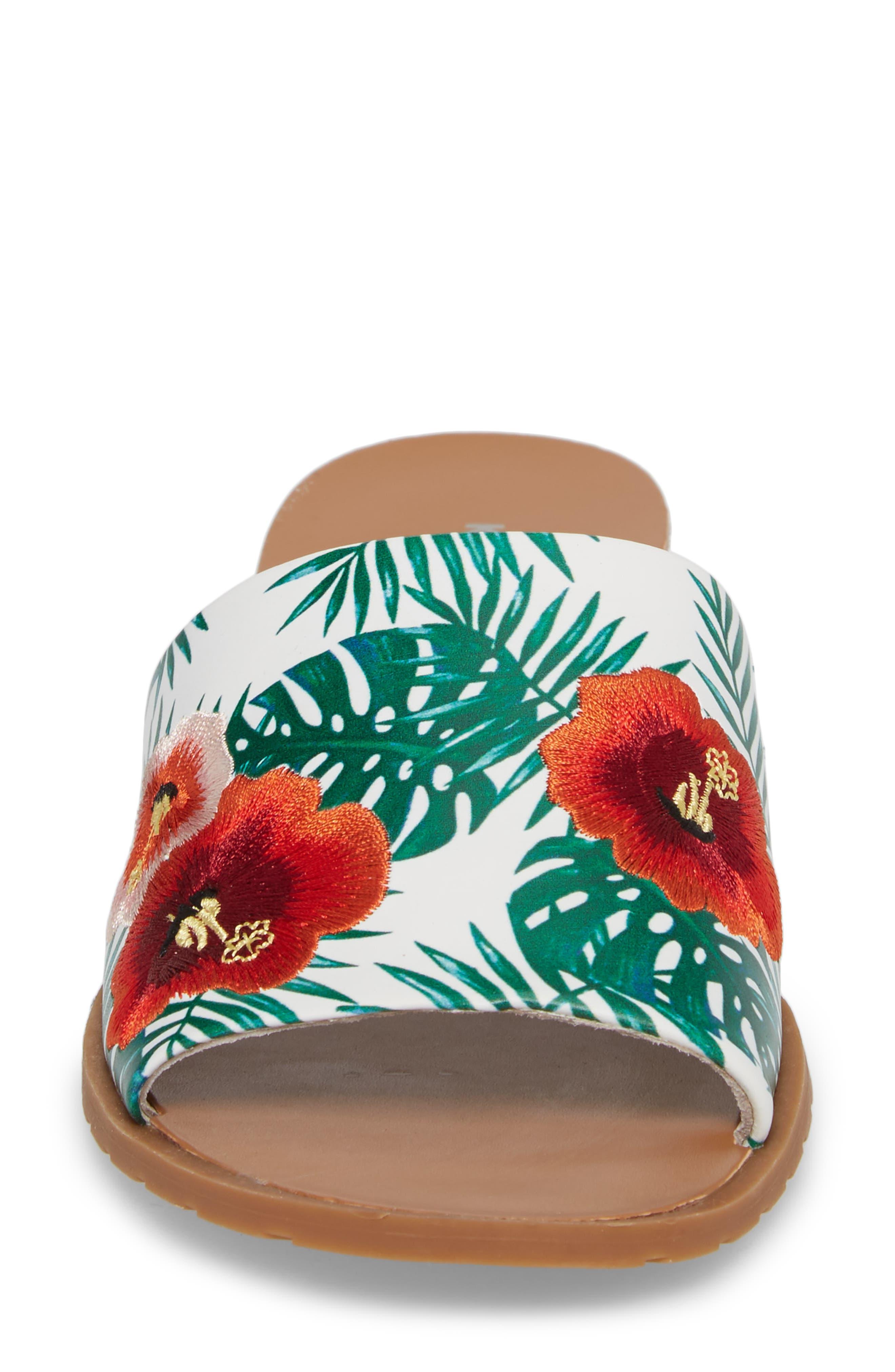 Joanne Flower Embroidered Slide Sandal,                             Alternate thumbnail 25, color,