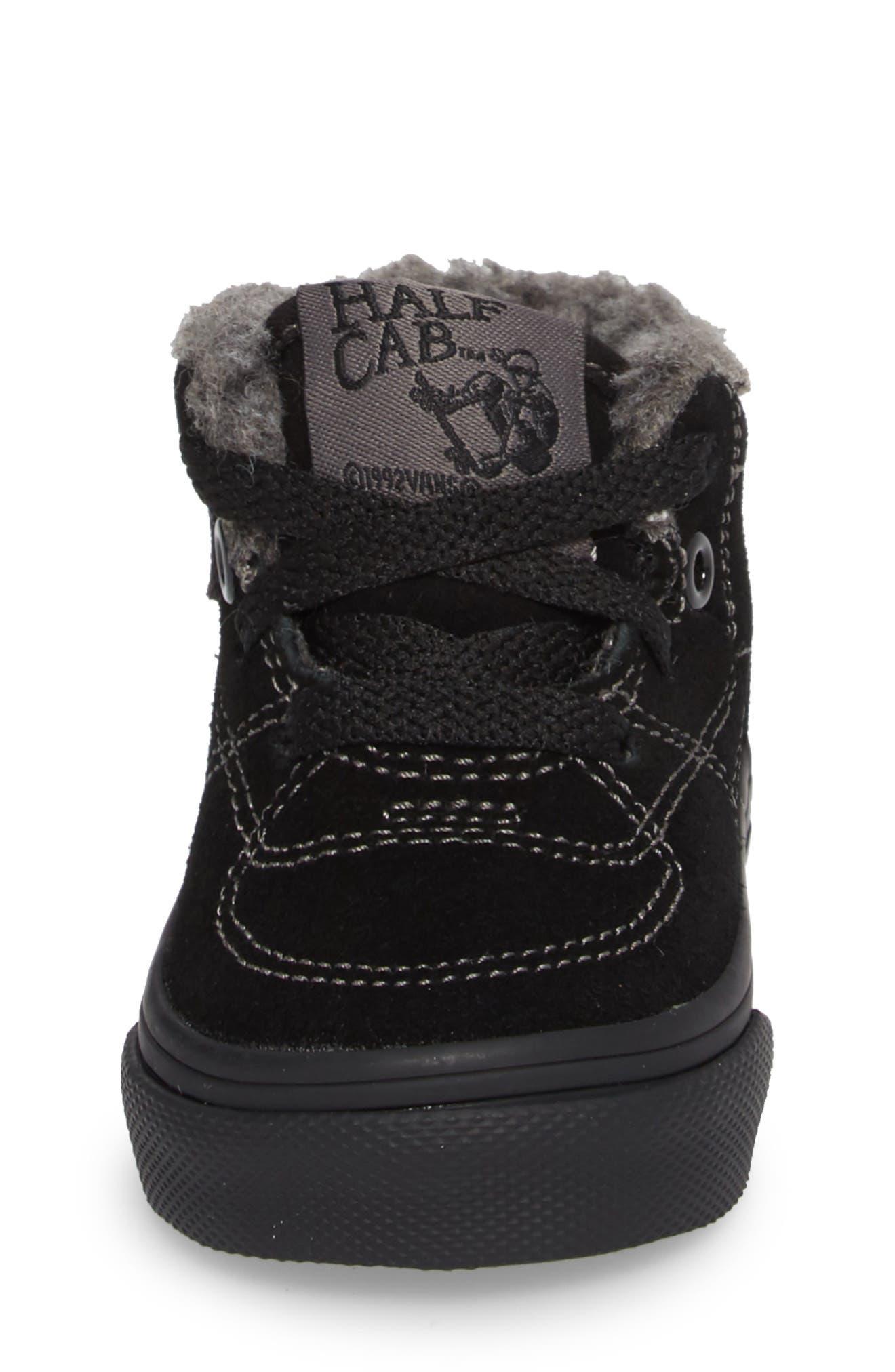 Half Cab Sneaker,                             Alternate thumbnail 4, color,                             001