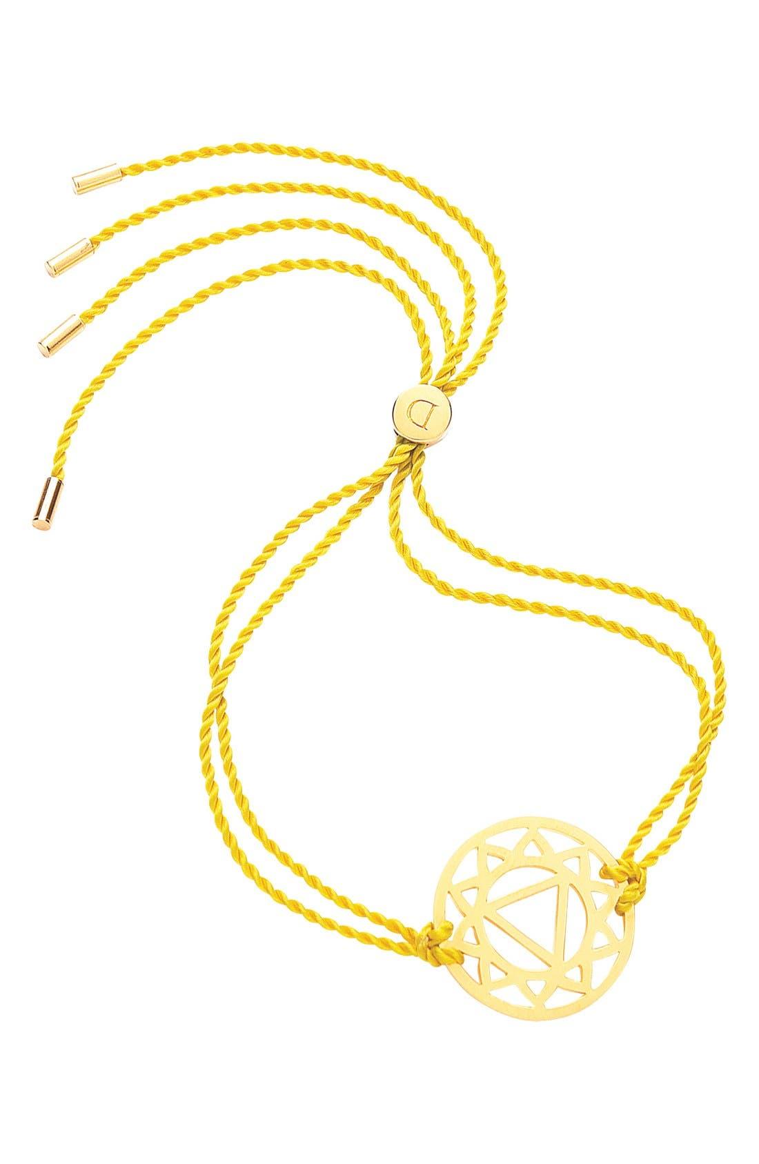'Solar Plexus Chakra' Cord Bracelet,                             Main thumbnail 1, color,