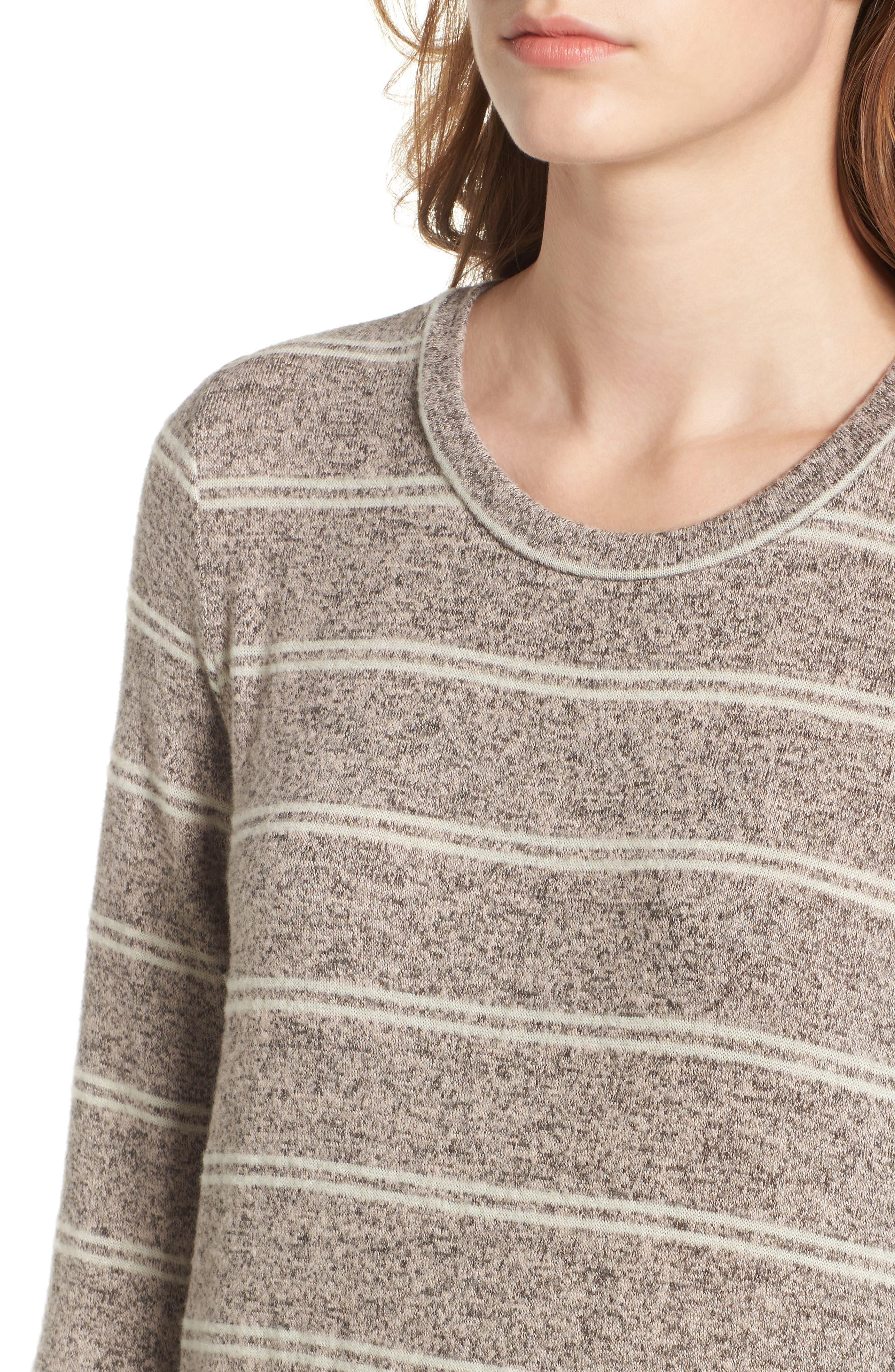 Drop Waist Sweater Dress,                             Alternate thumbnail 4, color,                             020