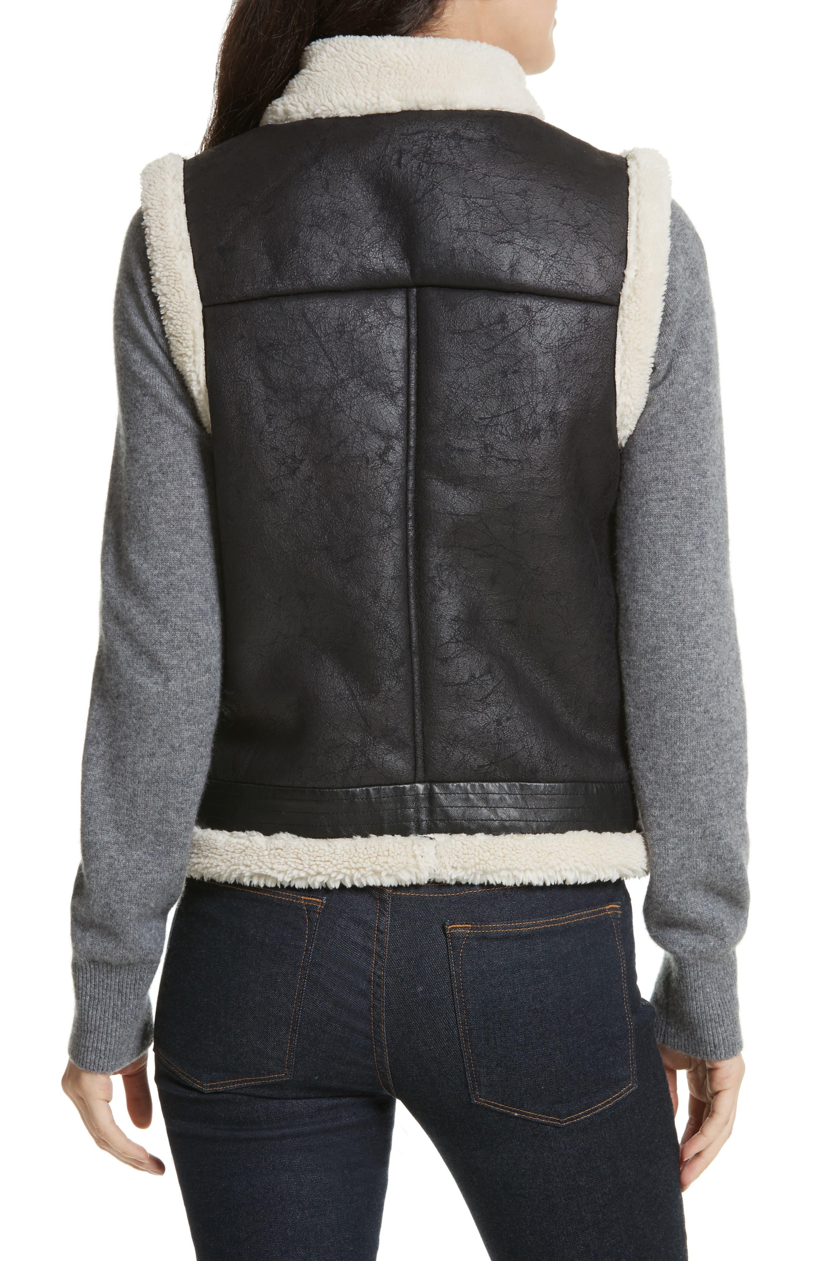 Danay Faux Shearling Vest,                             Alternate thumbnail 2, color,                             002