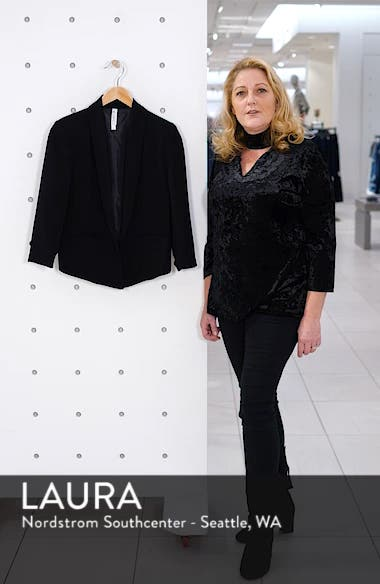 'Curve' Open Front Shawl Collar Blazer, sales video thumbnail