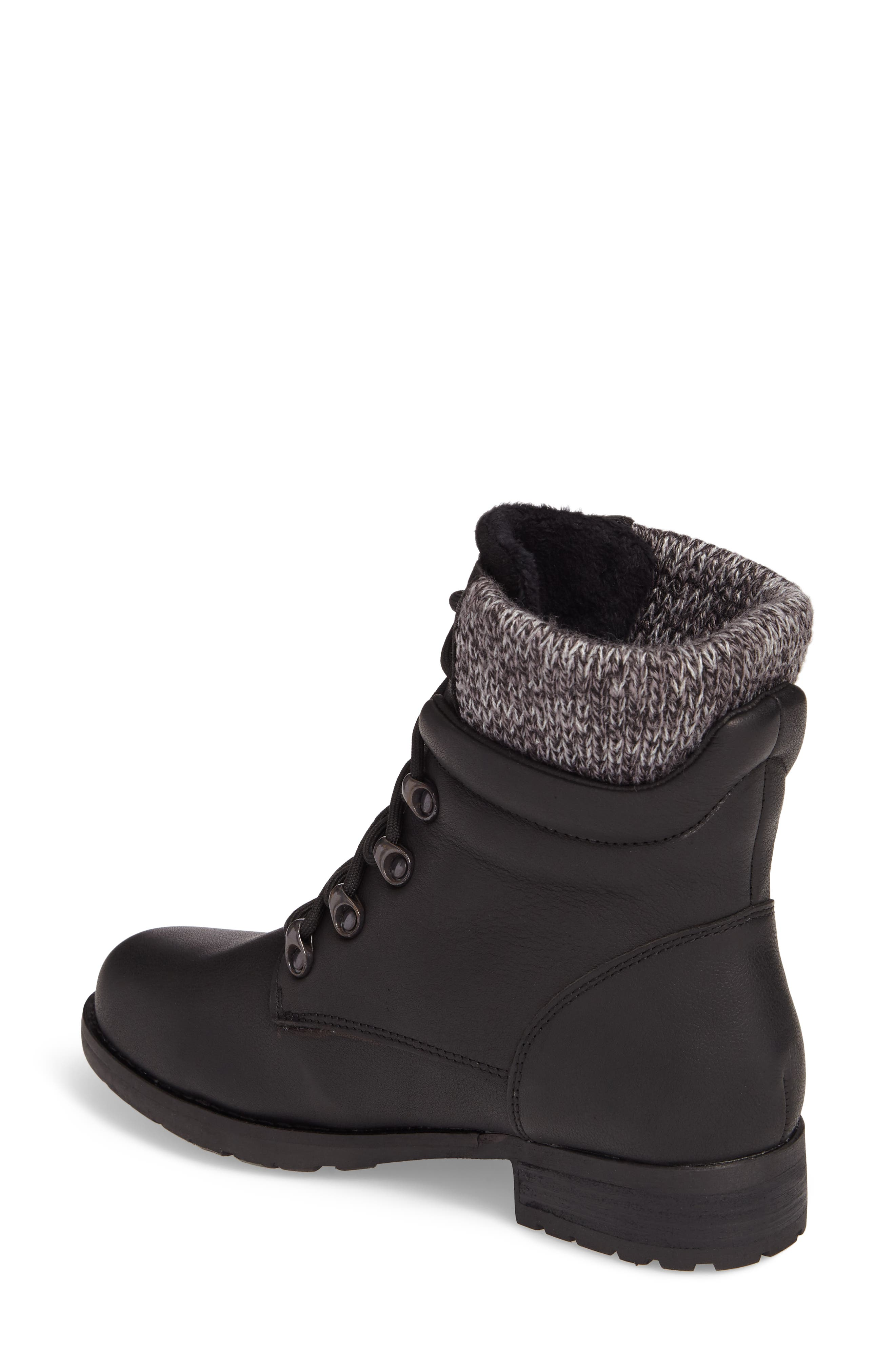 Derry Waterproof Boot,                             Alternate thumbnail 2, color,                             BLACK LEATHER