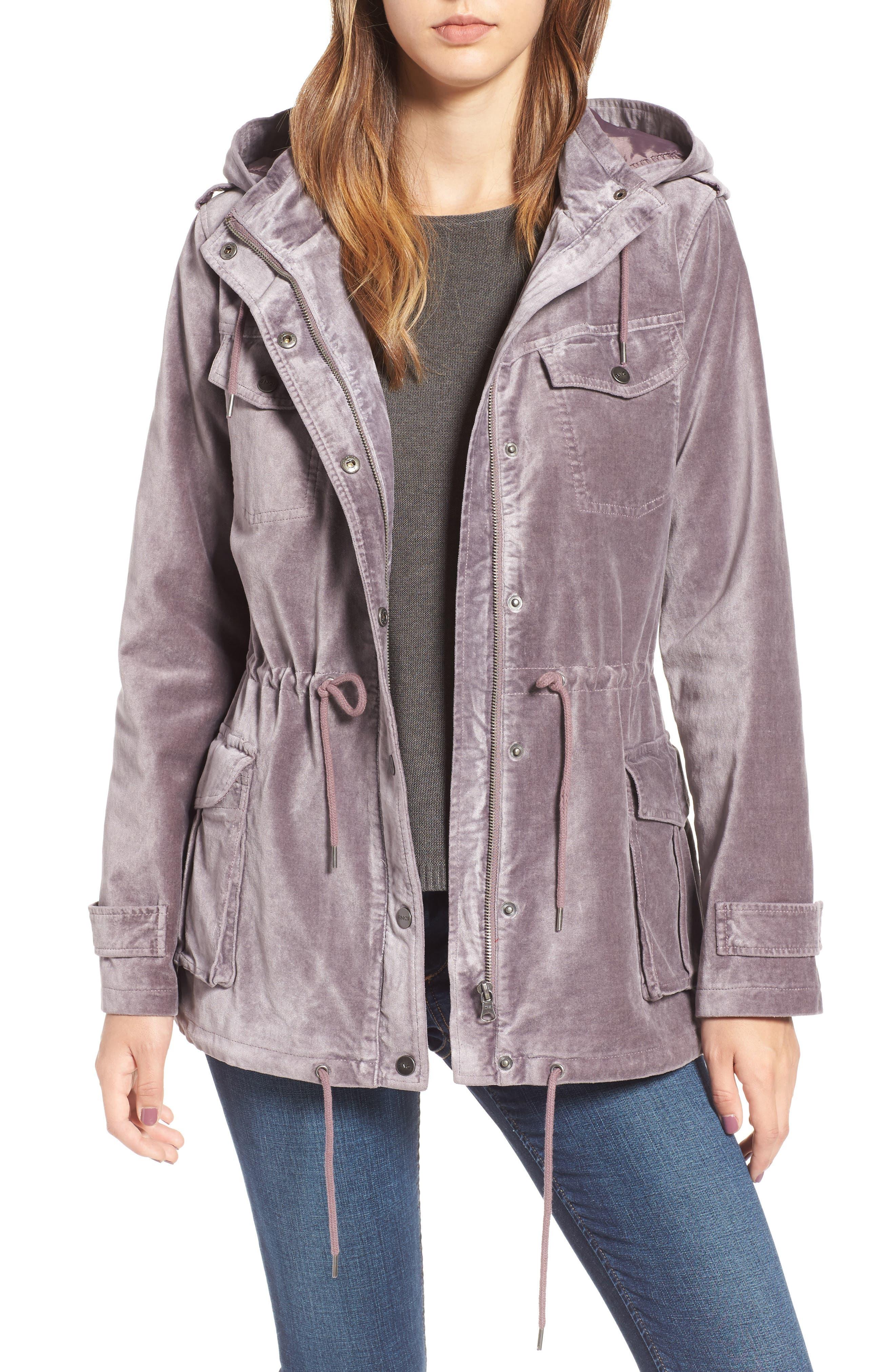 BNCI Cotton Velveteen Hooded Anorak Jacket,                             Main thumbnail 2, color,