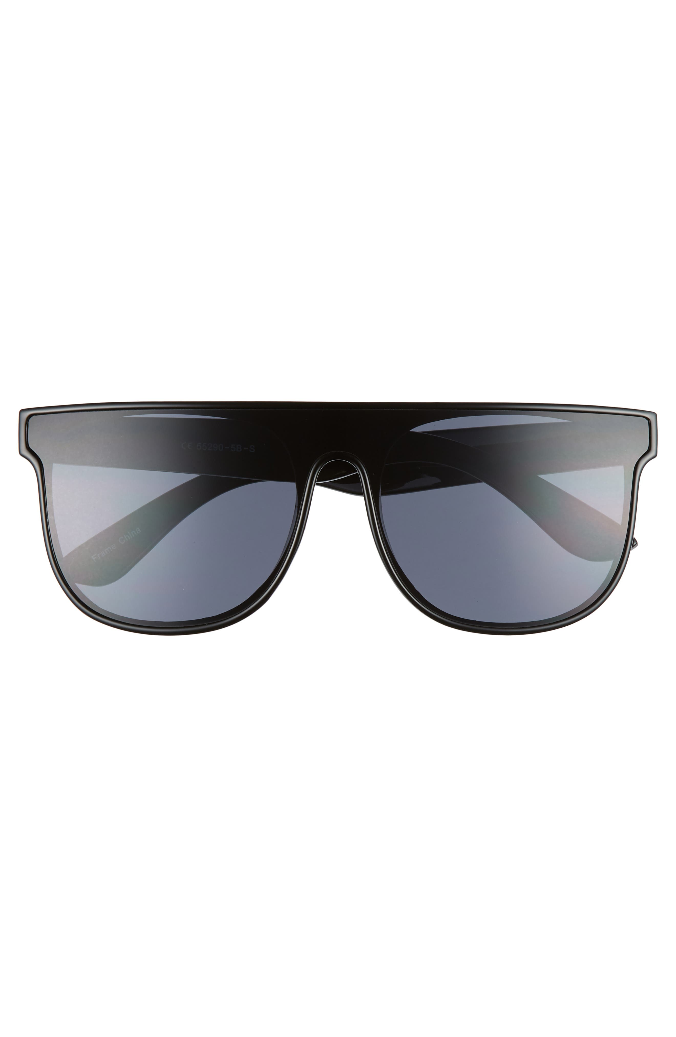 60mm Shield Sunglasses,                             Alternate thumbnail 3, color,                             001