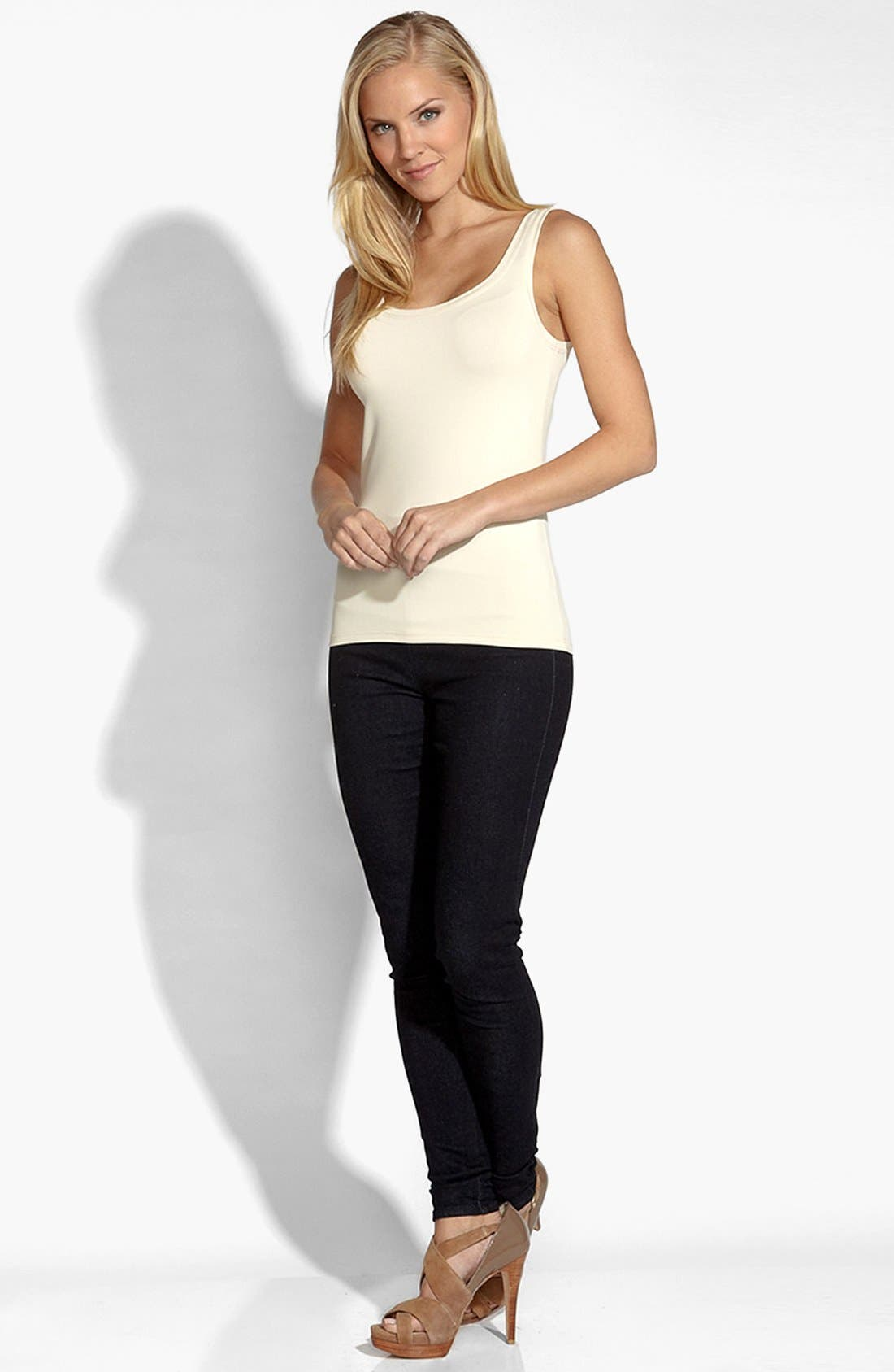 Supersoft Tank,                             Alternate thumbnail 3, color,                             CREAM