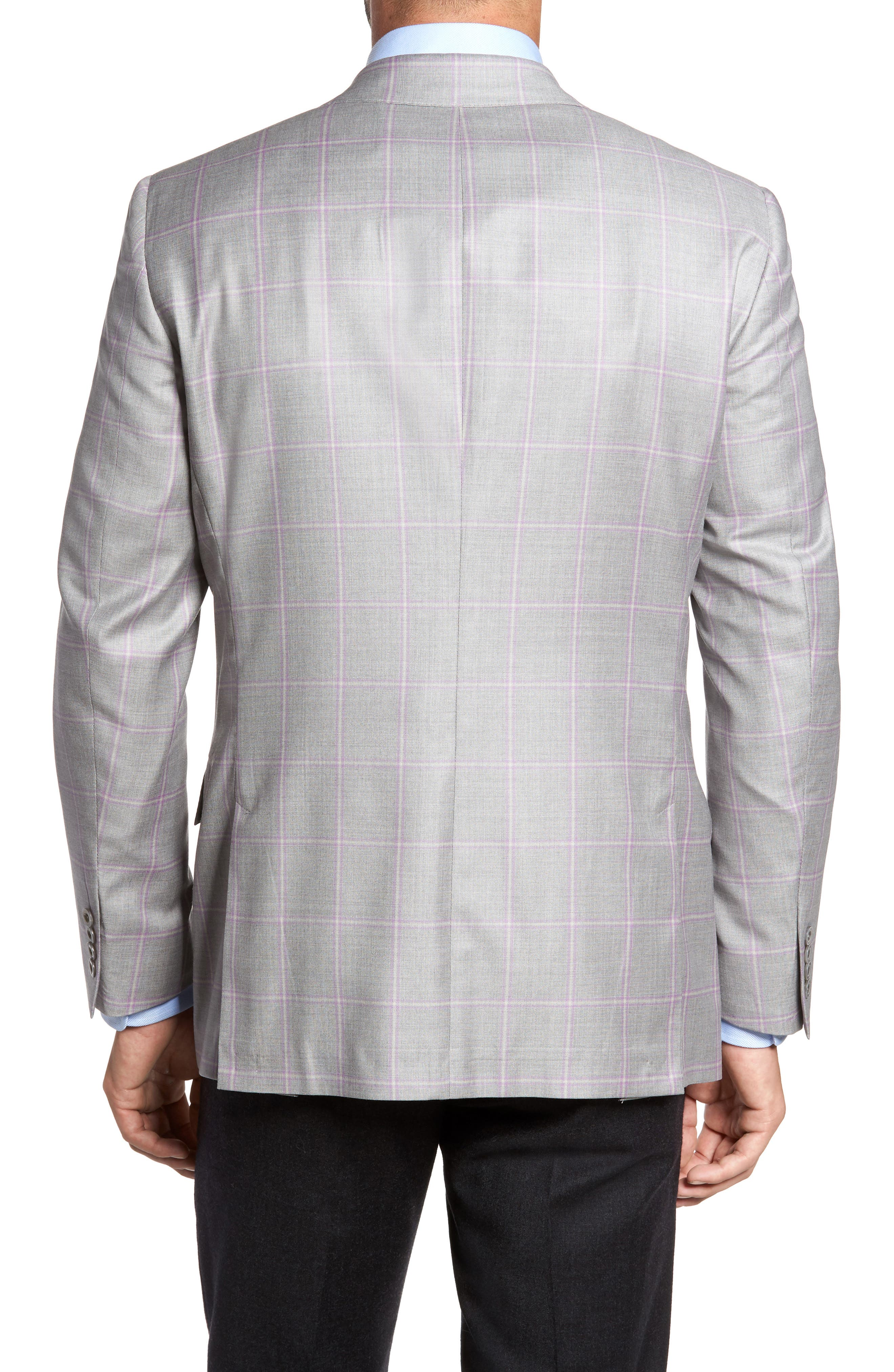 Classic Fit Windowpane Wool Sport Coat,                             Alternate thumbnail 2, color,                             050