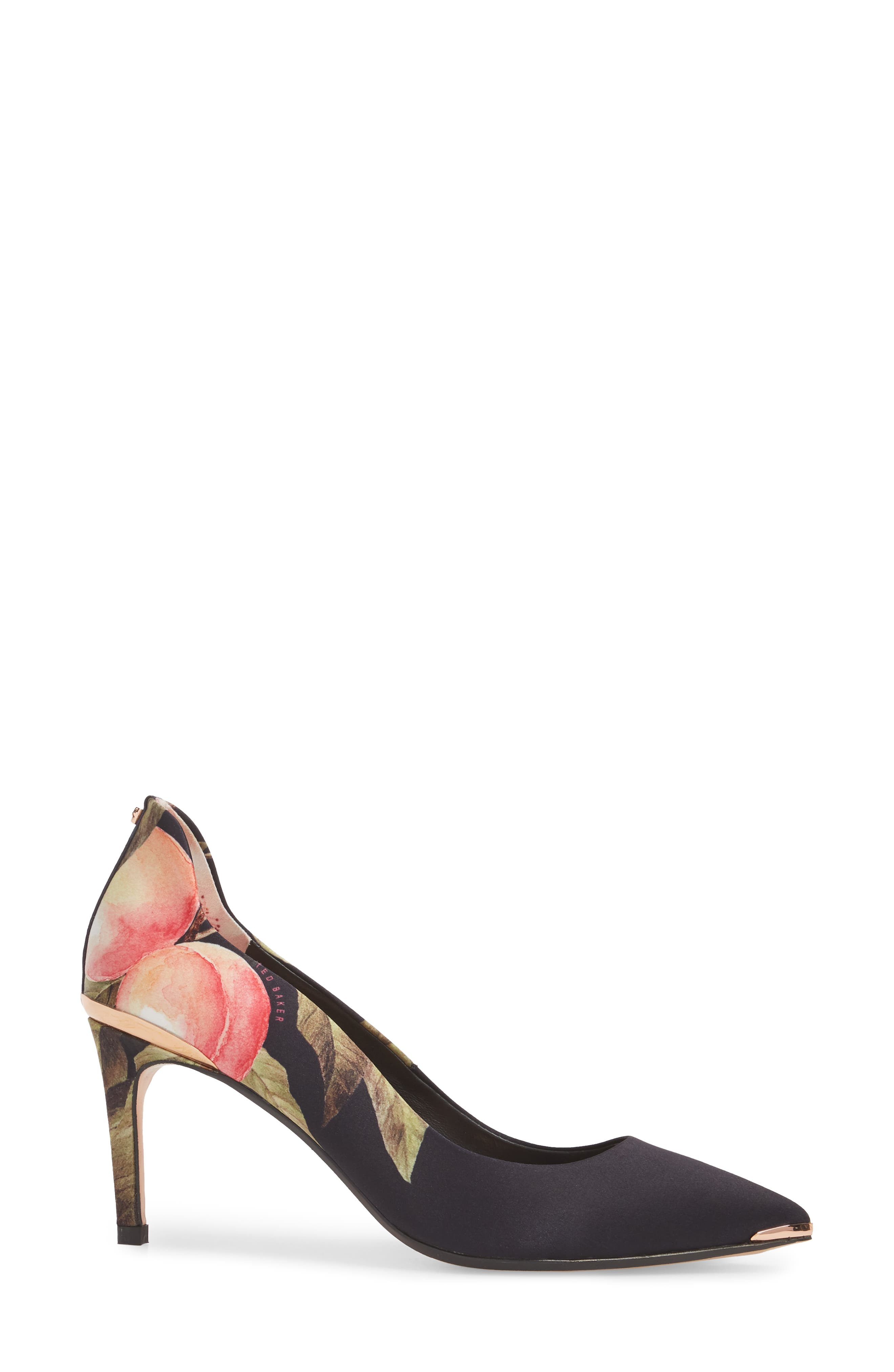 TED BAKER LONDON,                             Pointy Toe Pump,                             Alternate thumbnail 3, color,                             001