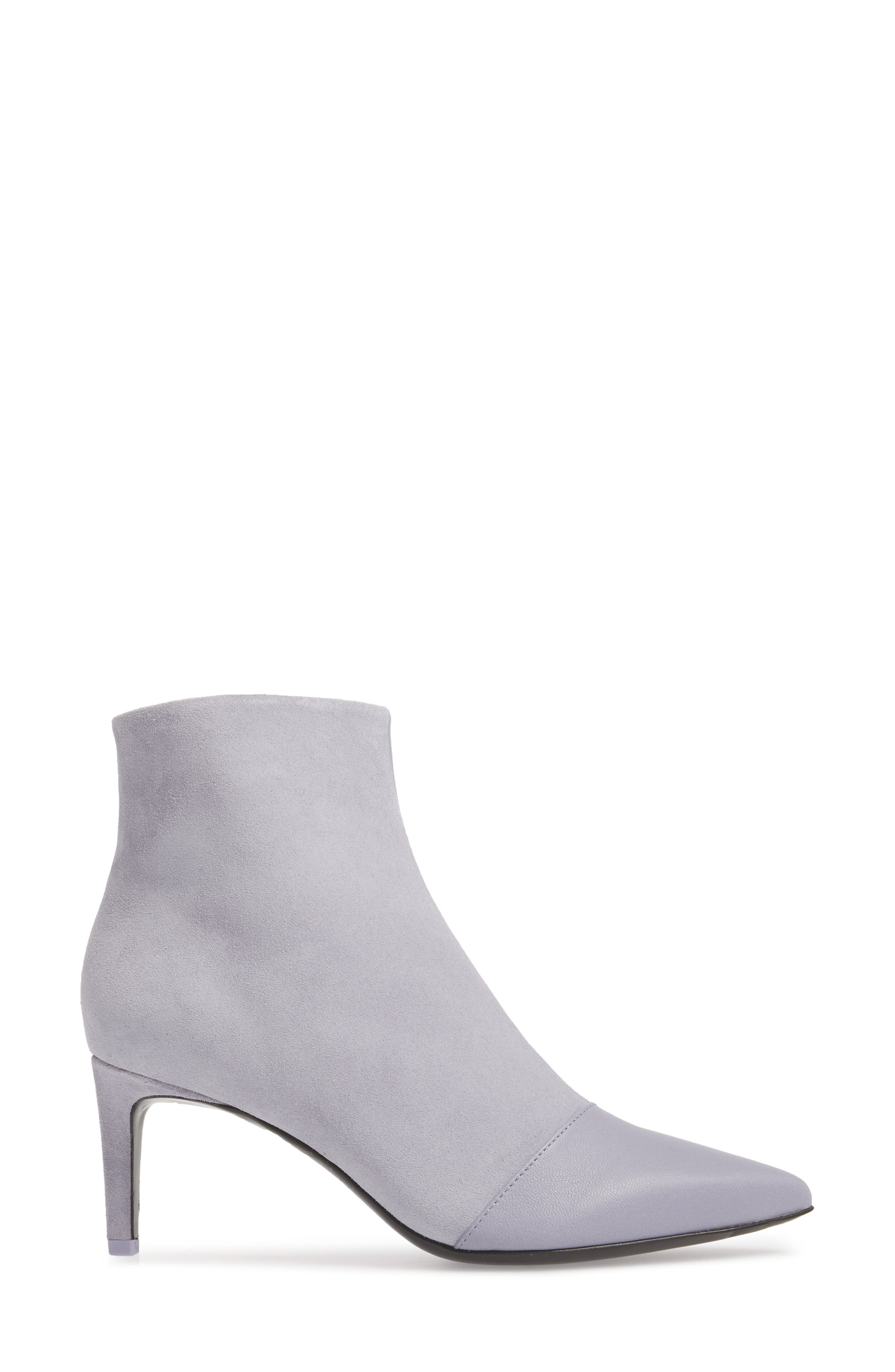 Beha Pointy Toe Bootie,                             Alternate thumbnail 3, color,                             LILAC COMBO
