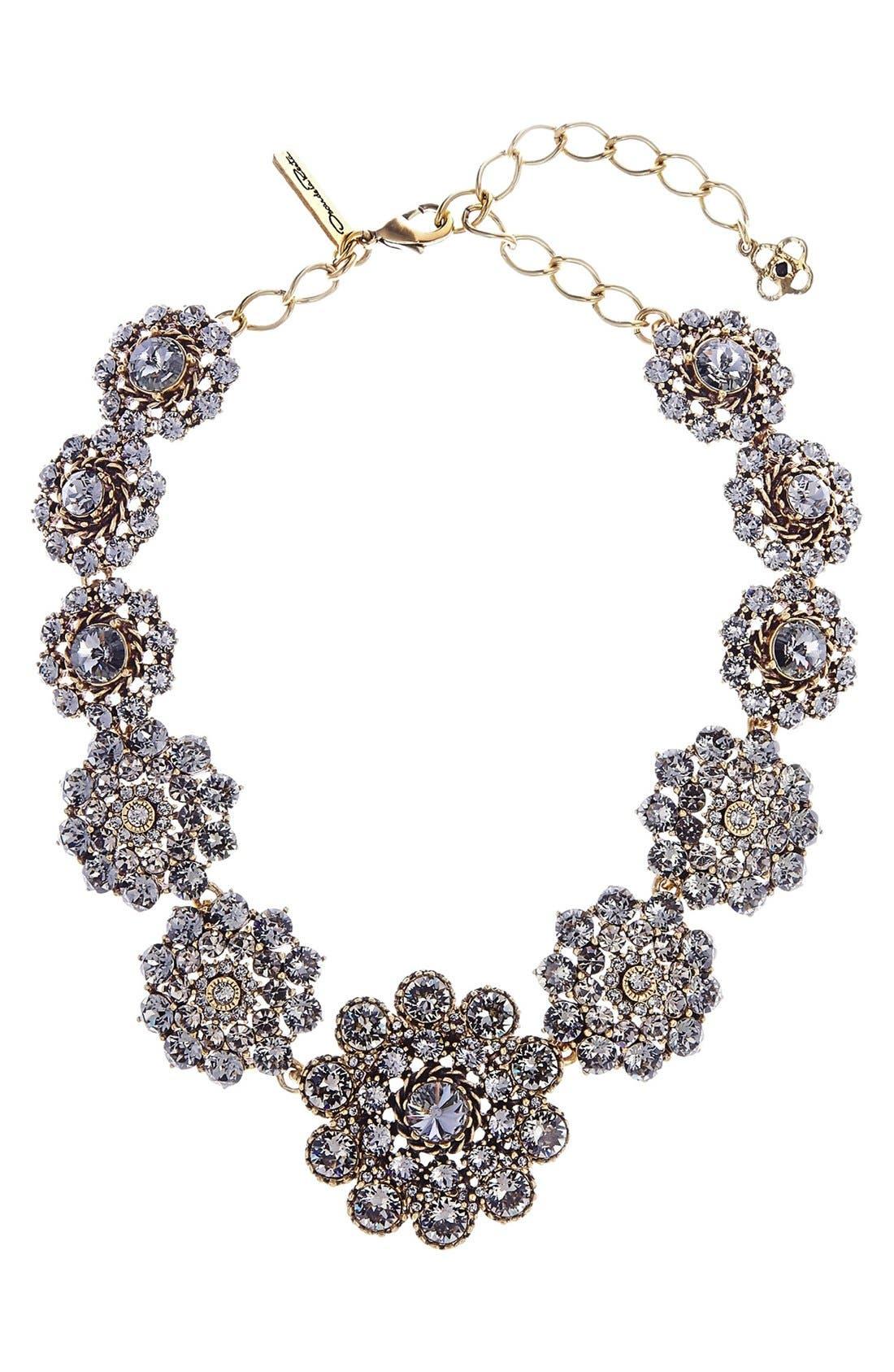 Swarovski Crystal Collar Necklace,                             Main thumbnail 1, color,                             BLACK
