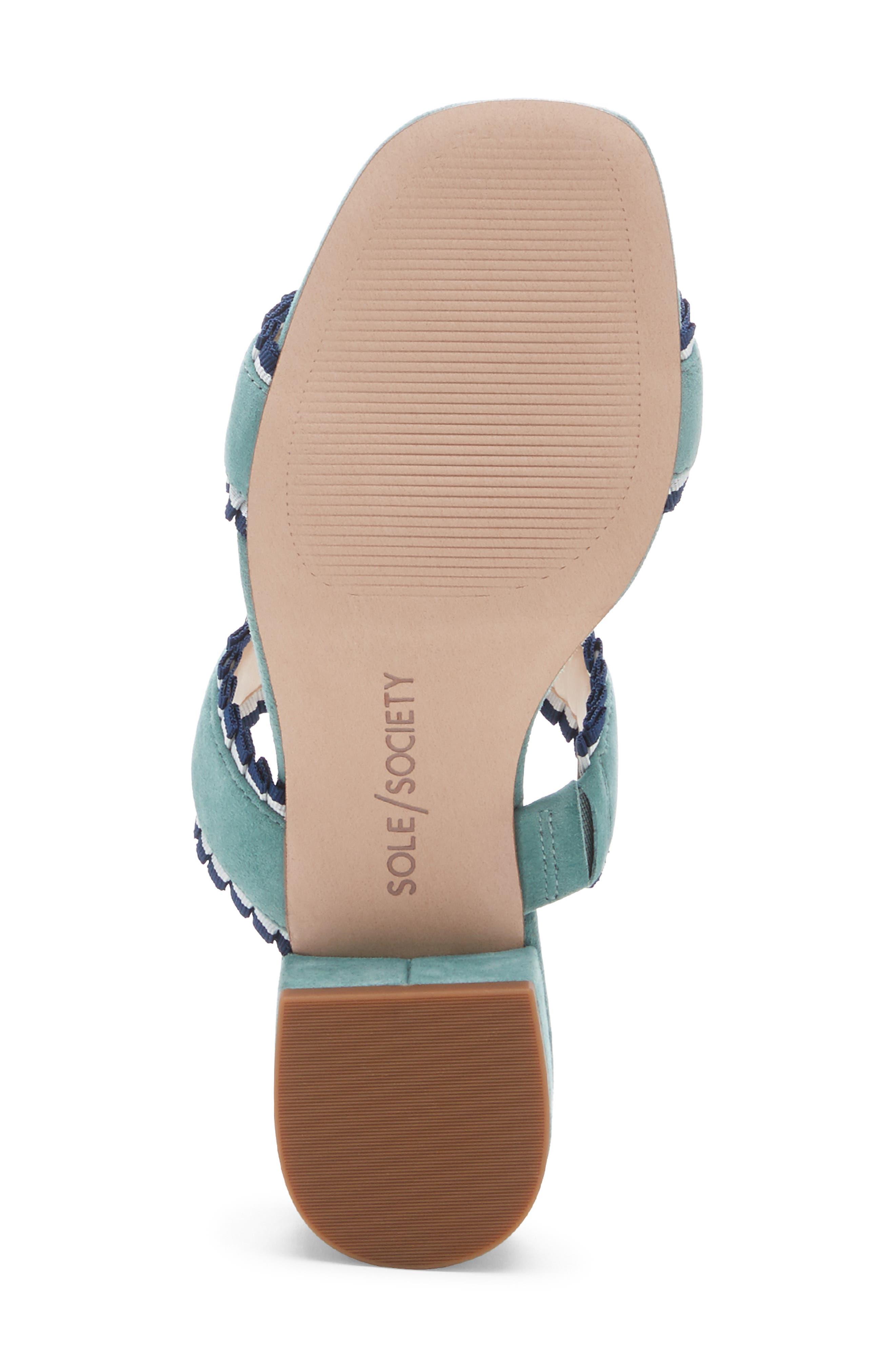 SOLE SOCIETY,                             Elura Slide Sandal,                             Alternate thumbnail 6, color,                             LIGHT SEA GREEN SUEDE