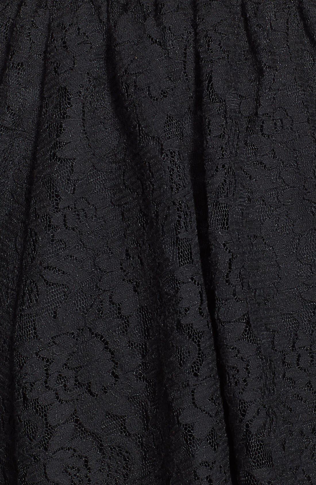 Lace Skater Skirt,                             Alternate thumbnail 3, color,                             001
