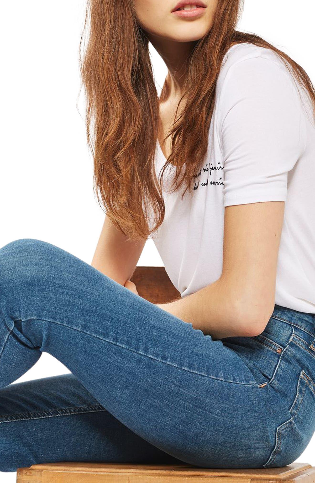 'Jamie' High Waist Ankle Skinny Jeans,                             Alternate thumbnail 2, color,                             400
