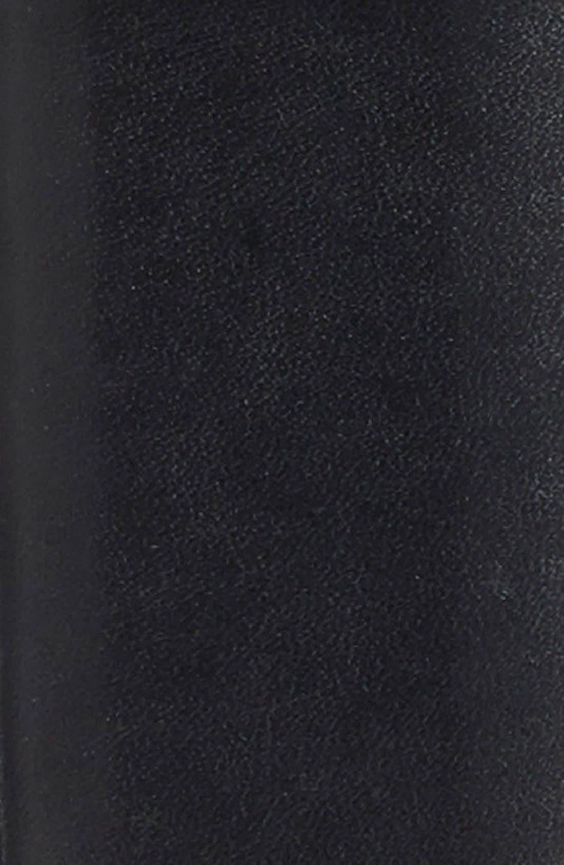 Leather Dress Belt,                             Alternate thumbnail 2, color,                             BLACK OLD LEATHER