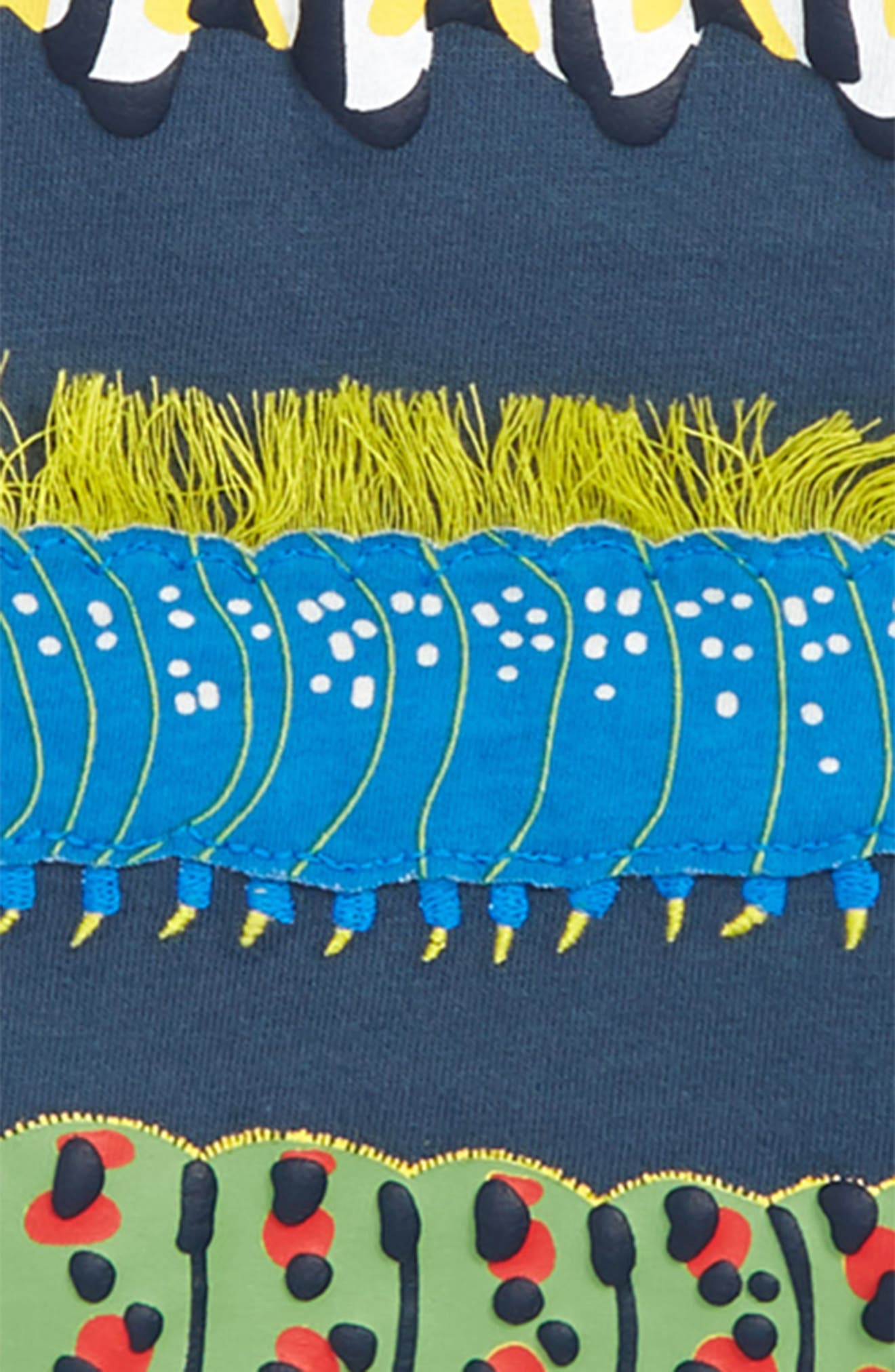 MINI BODEN,                             Creepy Crawly Caterpillars Layered T-Shirt,                             Alternate thumbnail 2, color,                             400