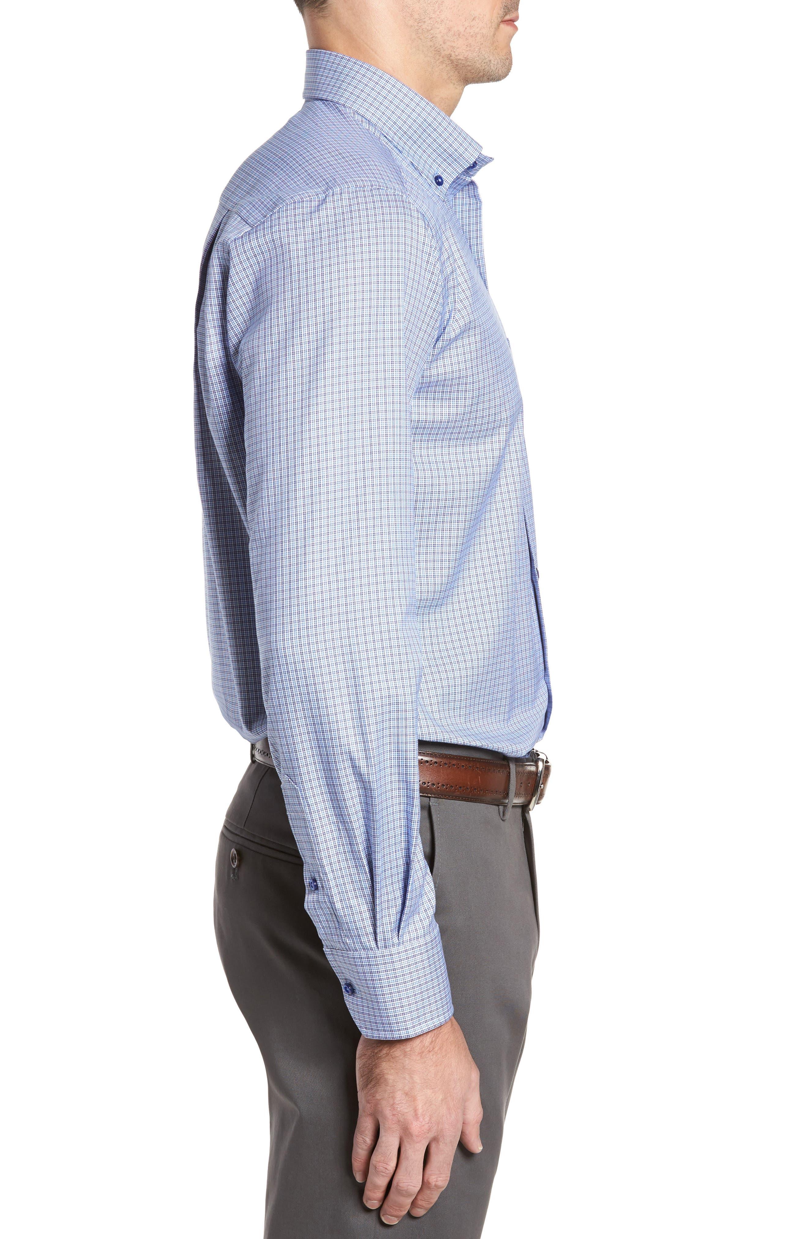 Regular Fit Plaid Sport Shirt,                             Alternate thumbnail 3, color,                             450