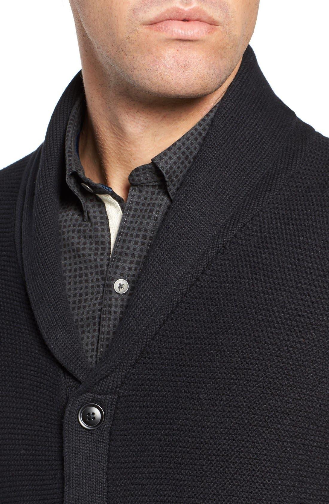 Cypress Cotton Shawl Collar Cardigan,                             Alternate thumbnail 4, color,