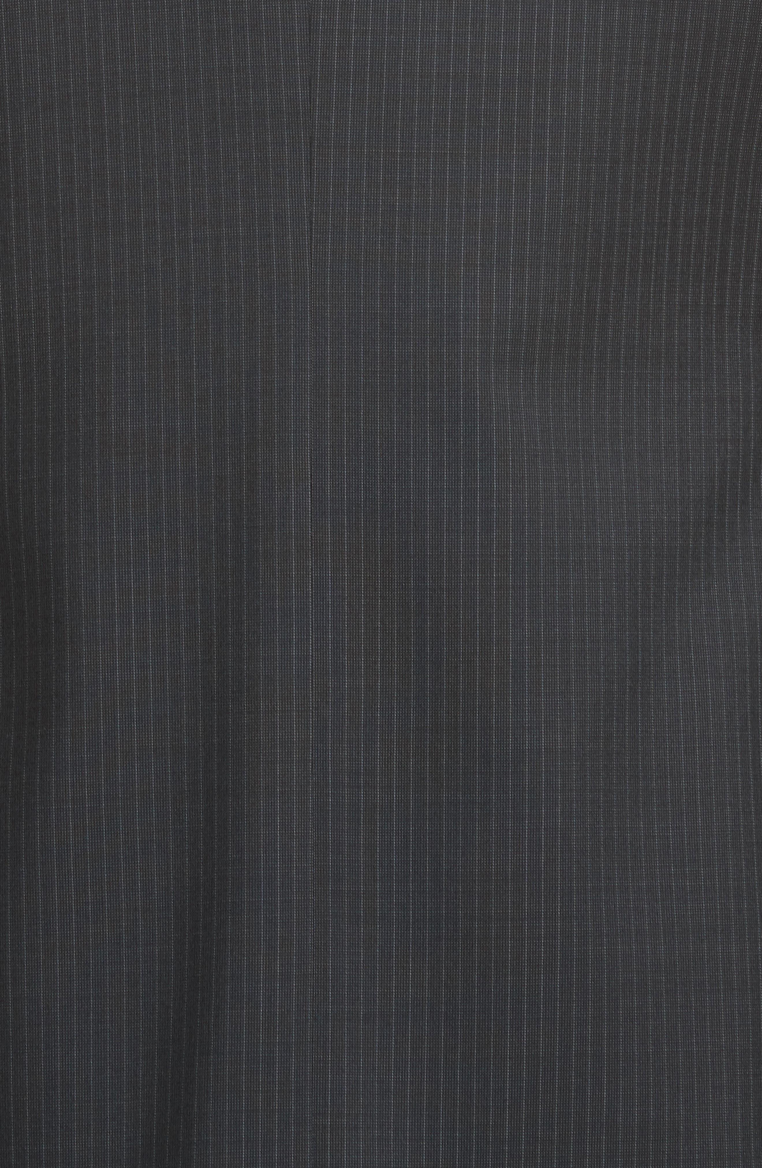 CANALI,                             Classic Fit Stripe Wool Suit,                             Alternate thumbnail 7, color,                             010