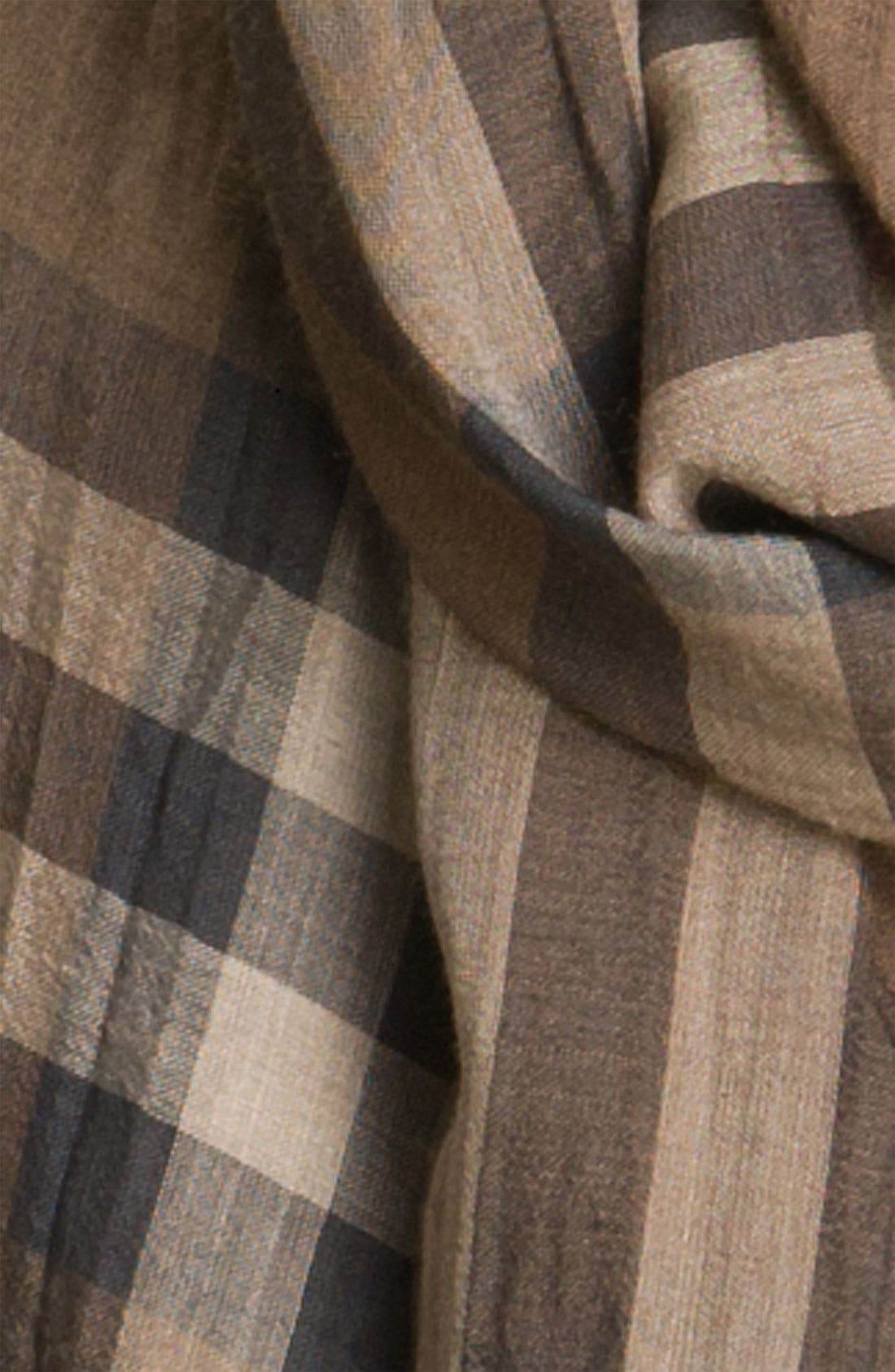 Giant Check Print Wool & Silk Scarf,                             Alternate thumbnail 79, color,