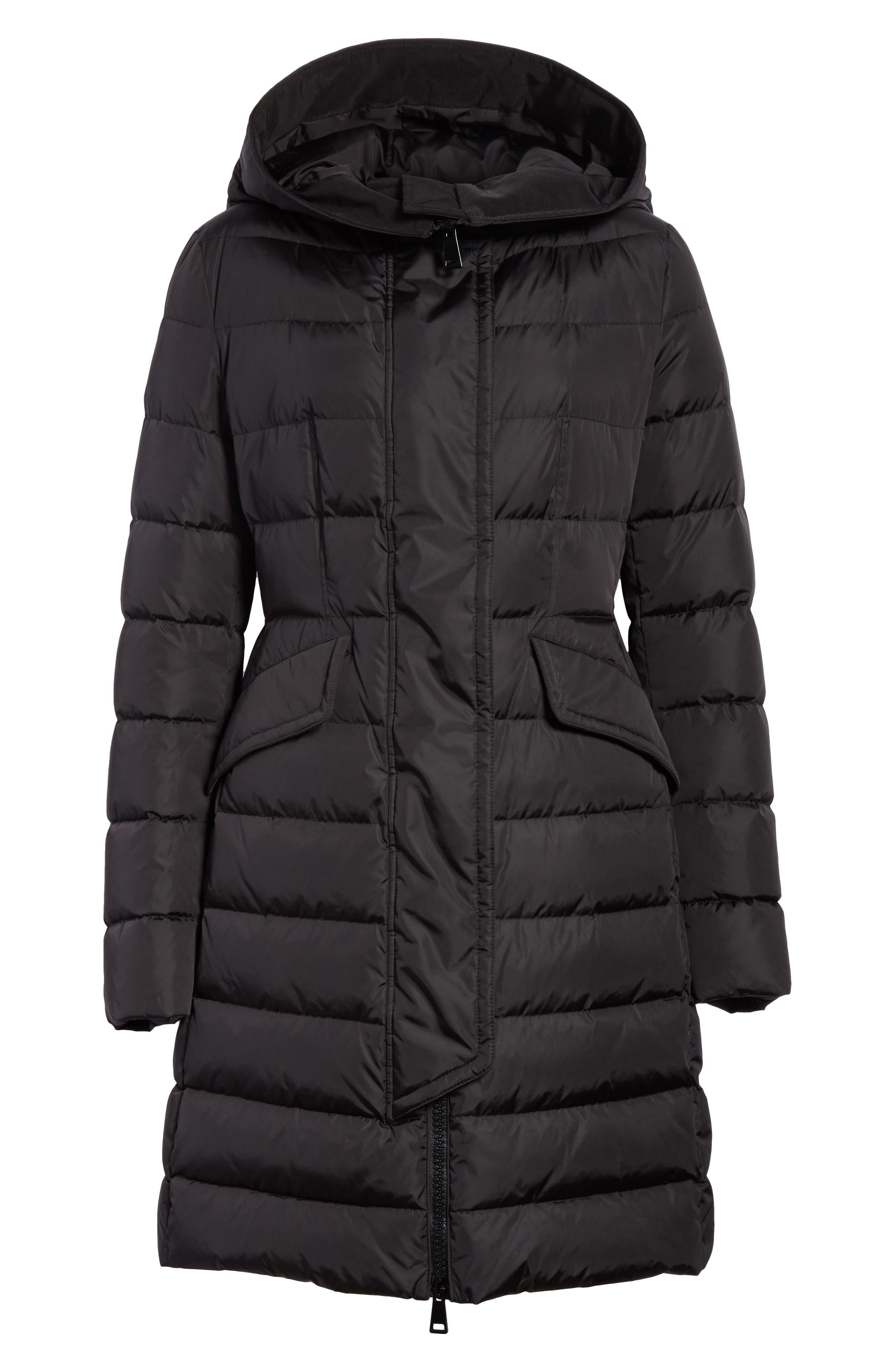 MONCLER,                             Grive Hooded Down Coat,                             Alternate thumbnail 5, color,                             NAVY