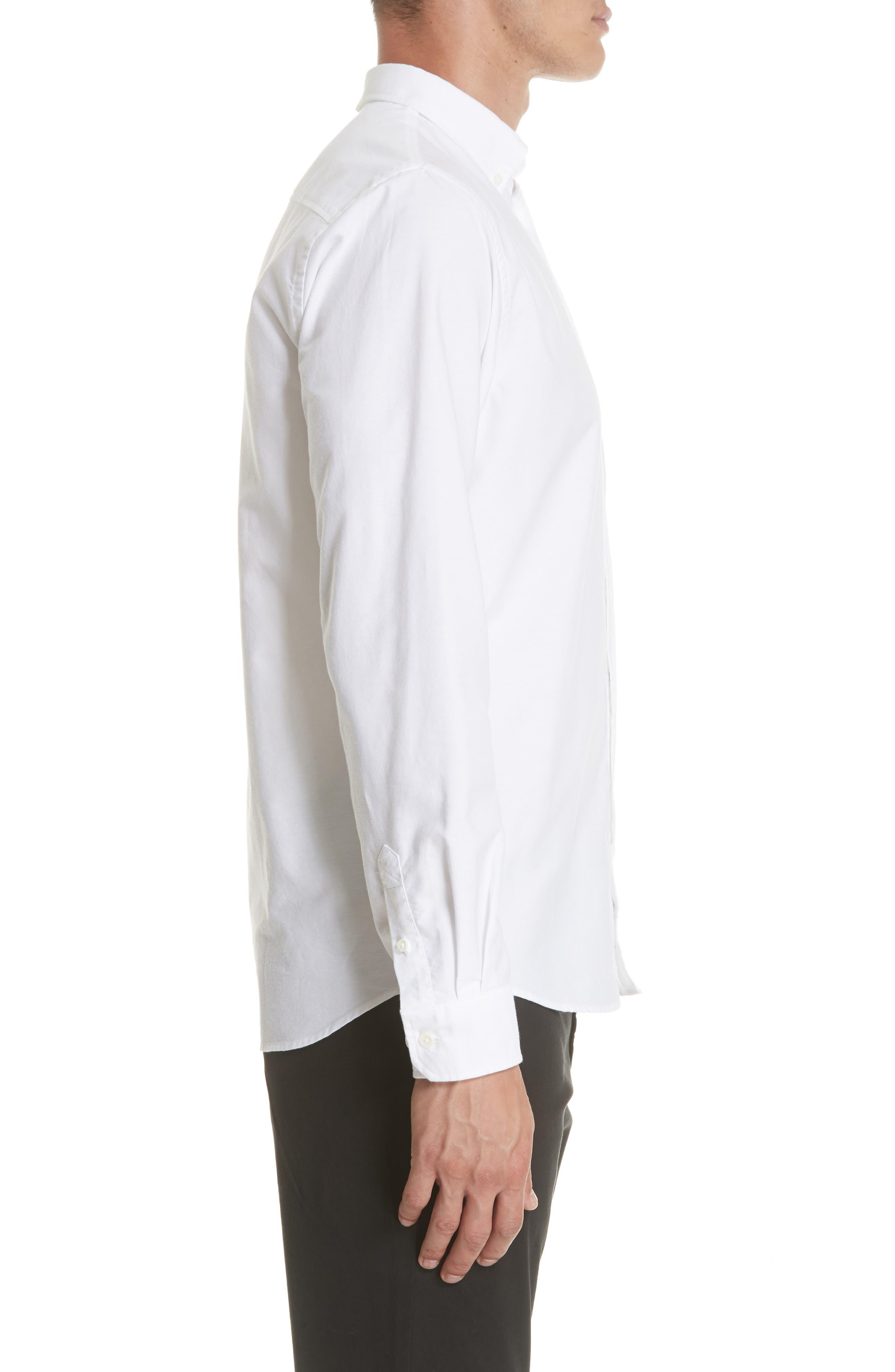 Anton Oxford Sport Shirt,                             Alternate thumbnail 3, color,                             100