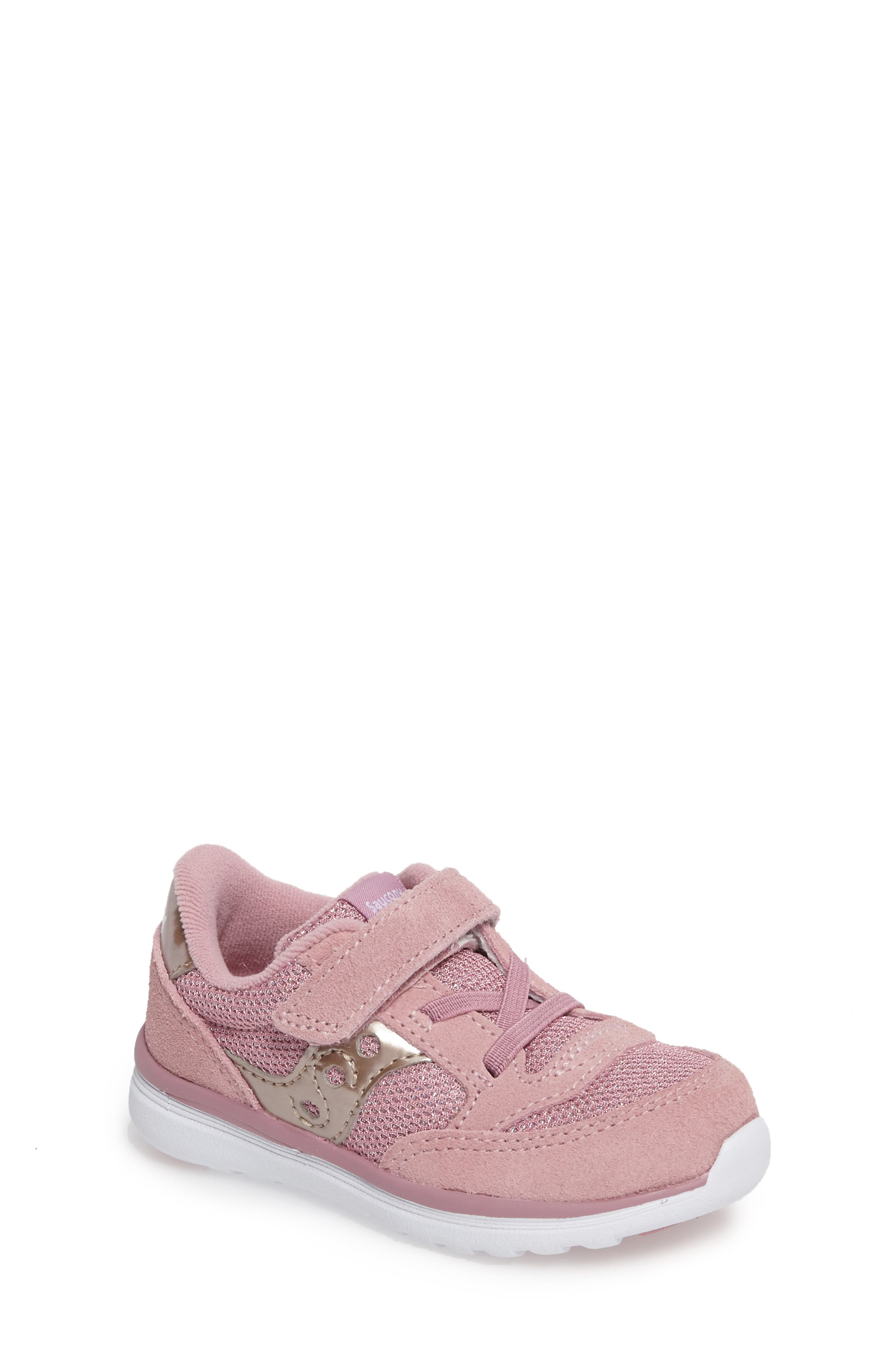 Jazz Lite Sneaker,                         Main,                         color, BLUSH METALLIC
