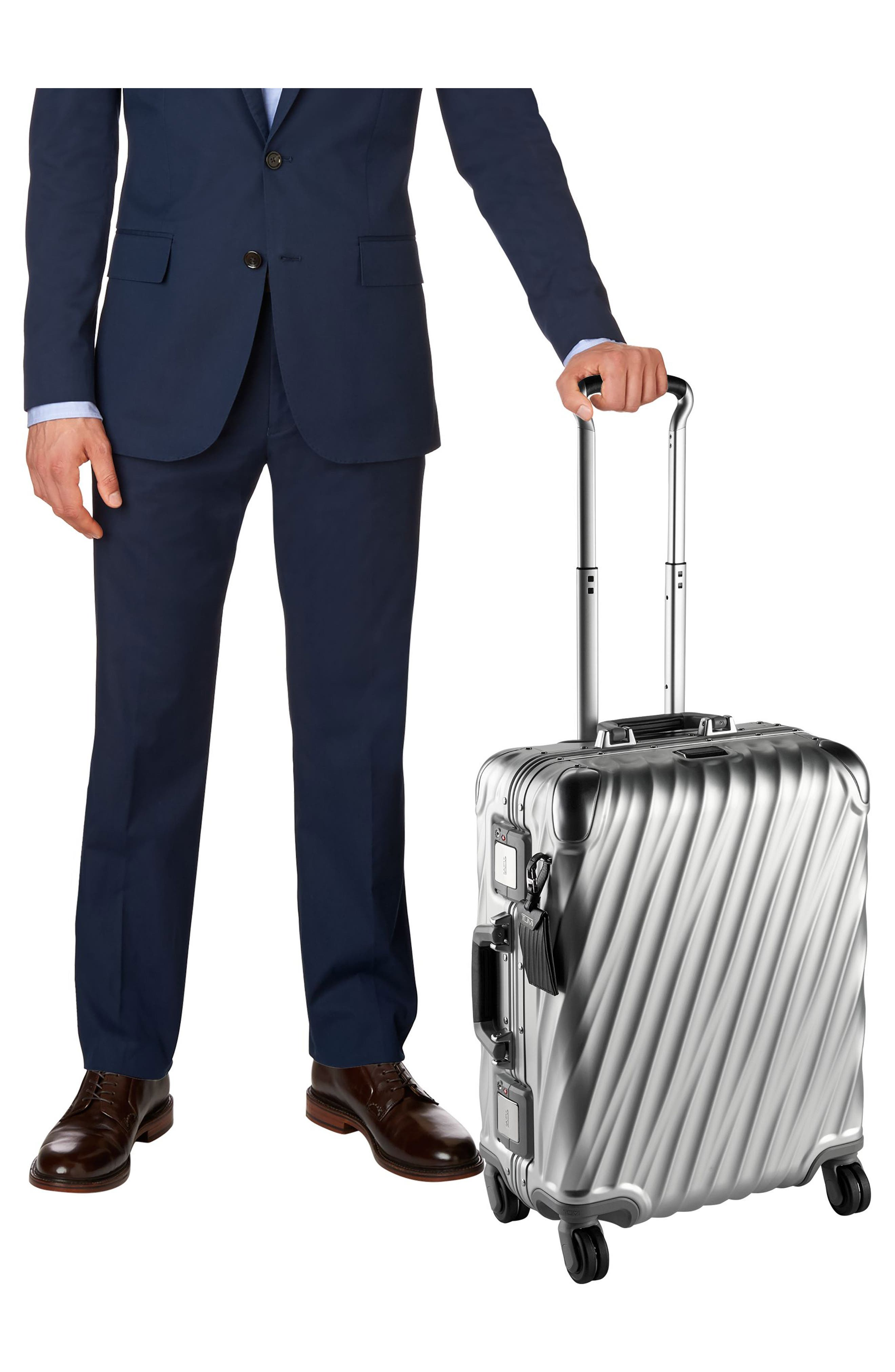 19 Degree 22-Inch Continental Wheeled Aluminum Carry-On,                             Alternate thumbnail 7, color,                             SILVER
