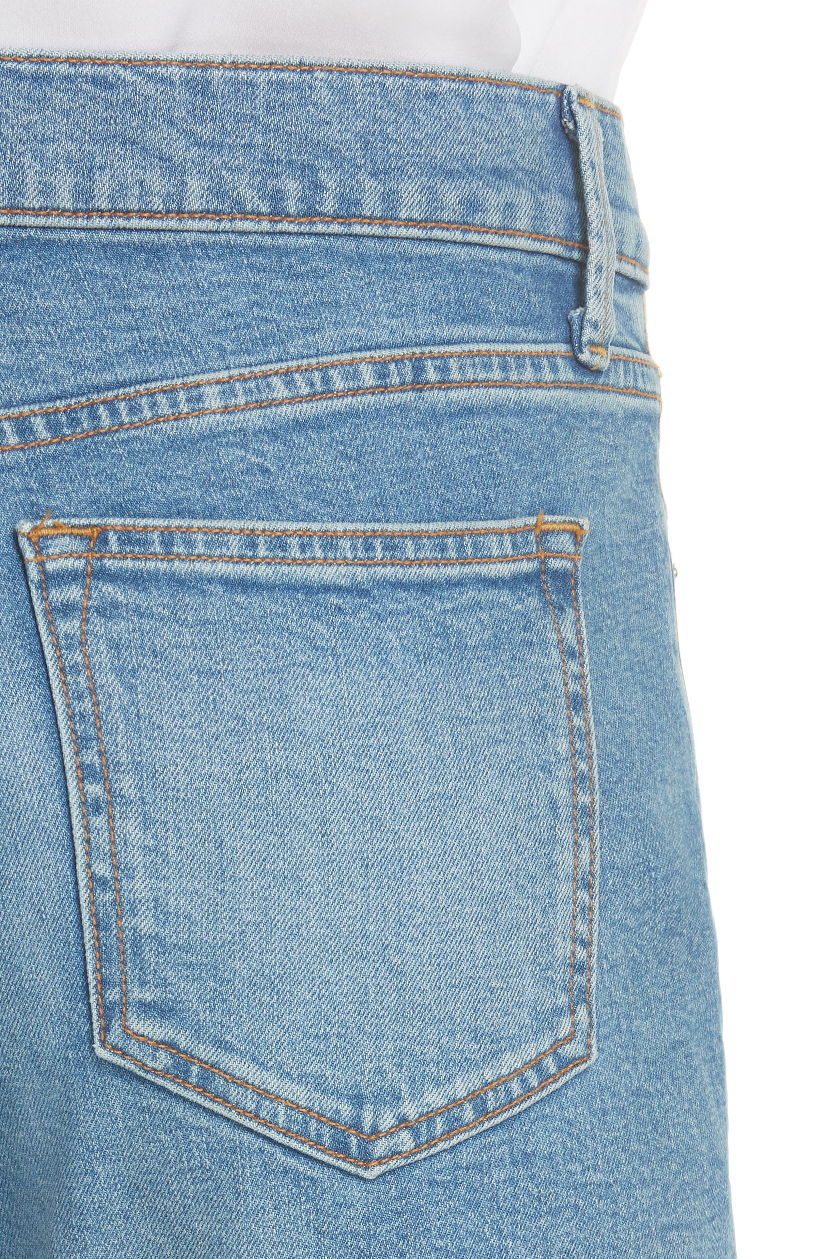 5-Pocket Skinny Jeans,                             Alternate thumbnail 4, color,                             LIGHT WASH