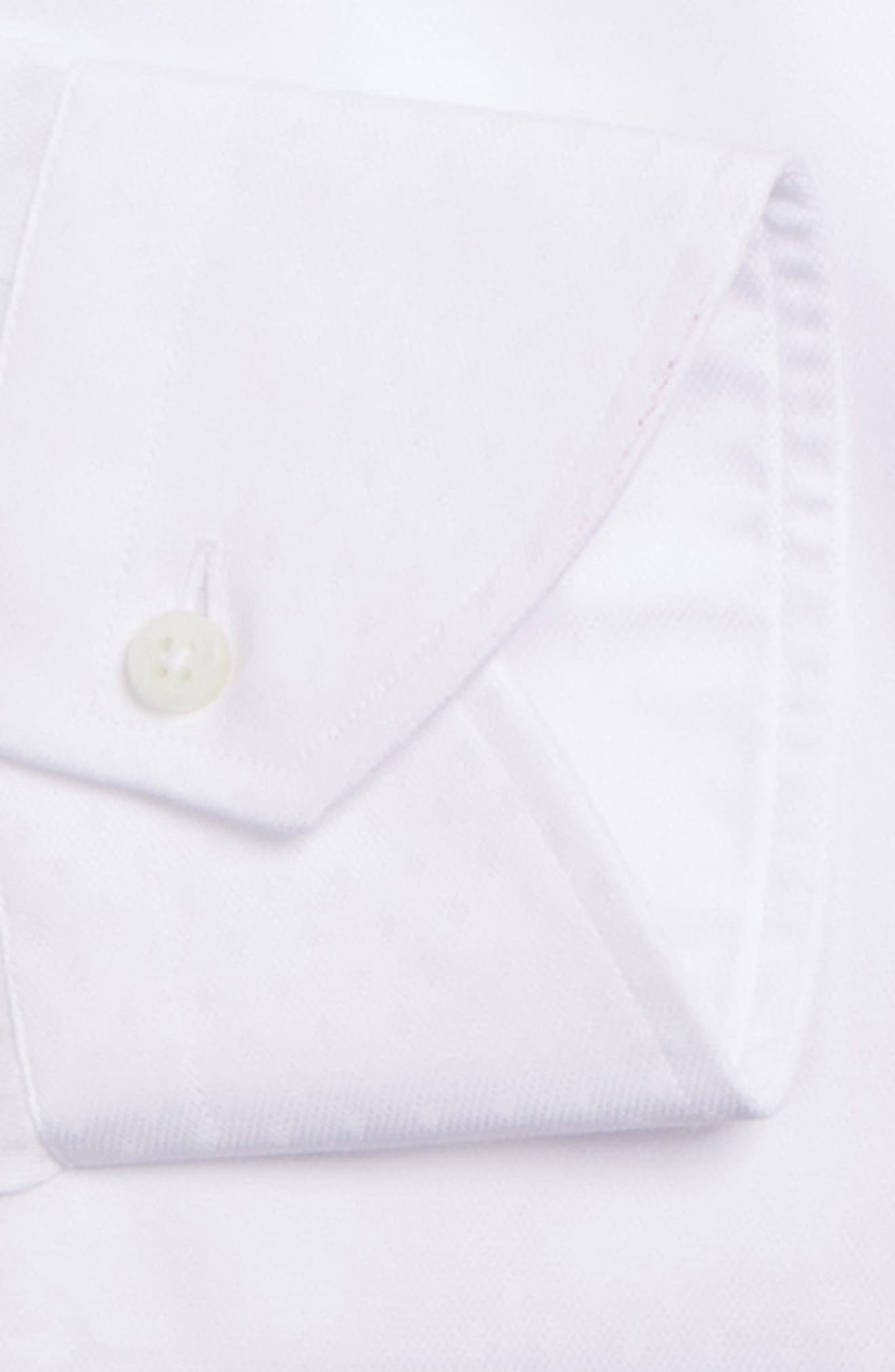 CANALI,                             Regular Fit Solid Dress Shirt,                             Alternate thumbnail 6, color,                             100