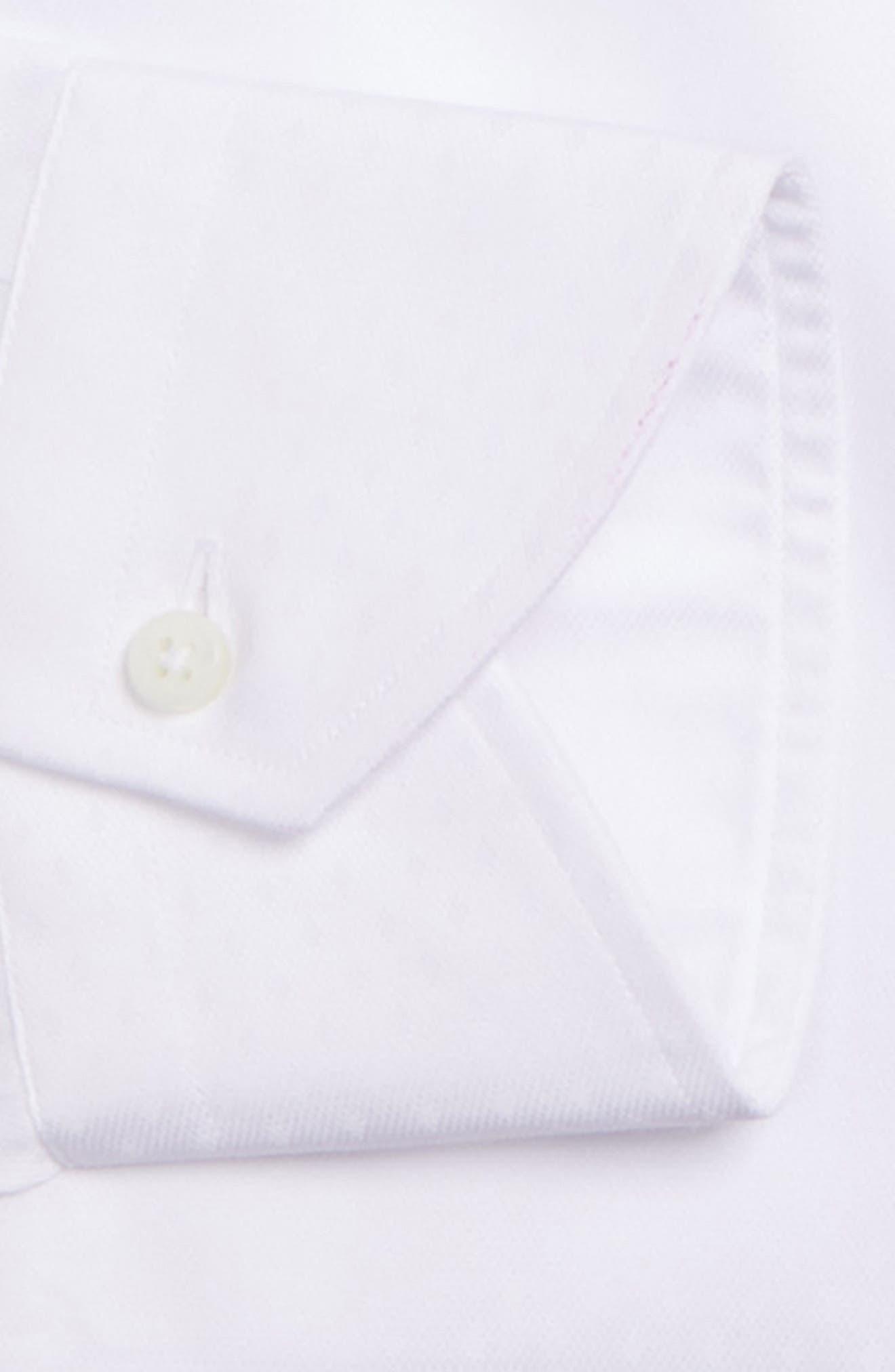 Regular Fit Solid Dress Shirt,                             Alternate thumbnail 6, color,                             100