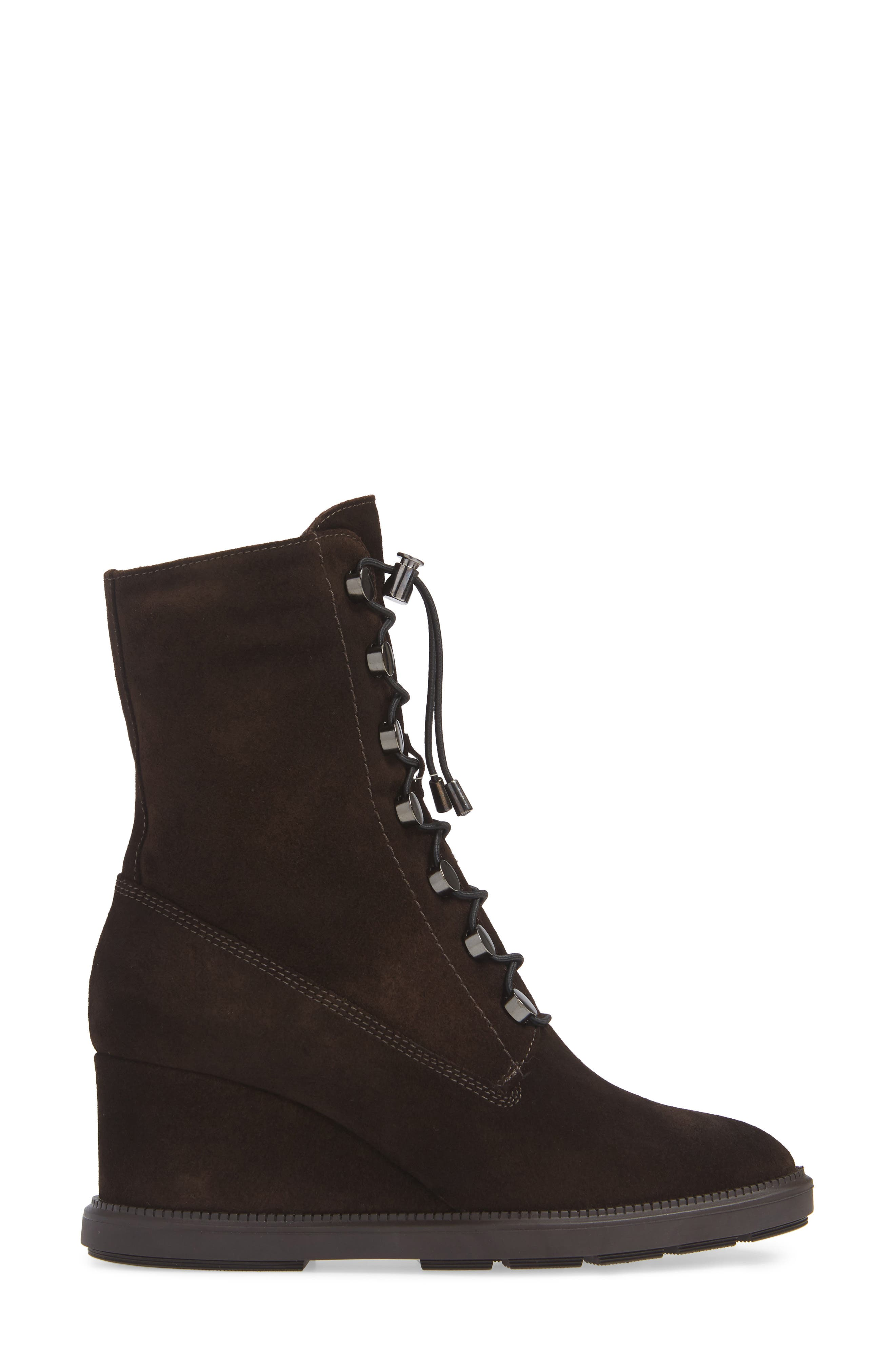 Campbell Wedge Boot,                             Alternate thumbnail 3, color,                             ESPRESSO SUEDE