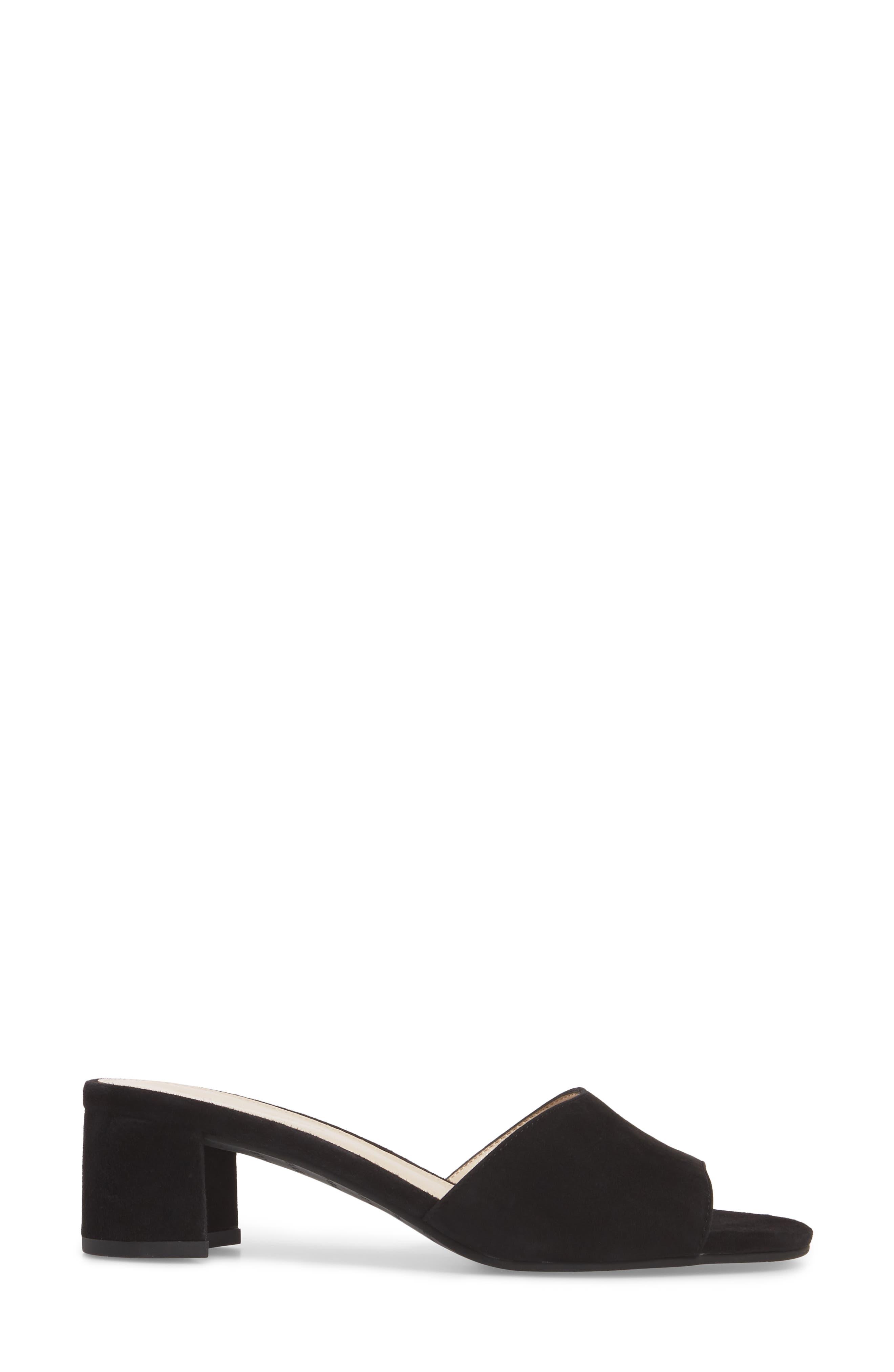 Rea Block Heel Slide Sandal,                             Alternate thumbnail 3, color,                             001