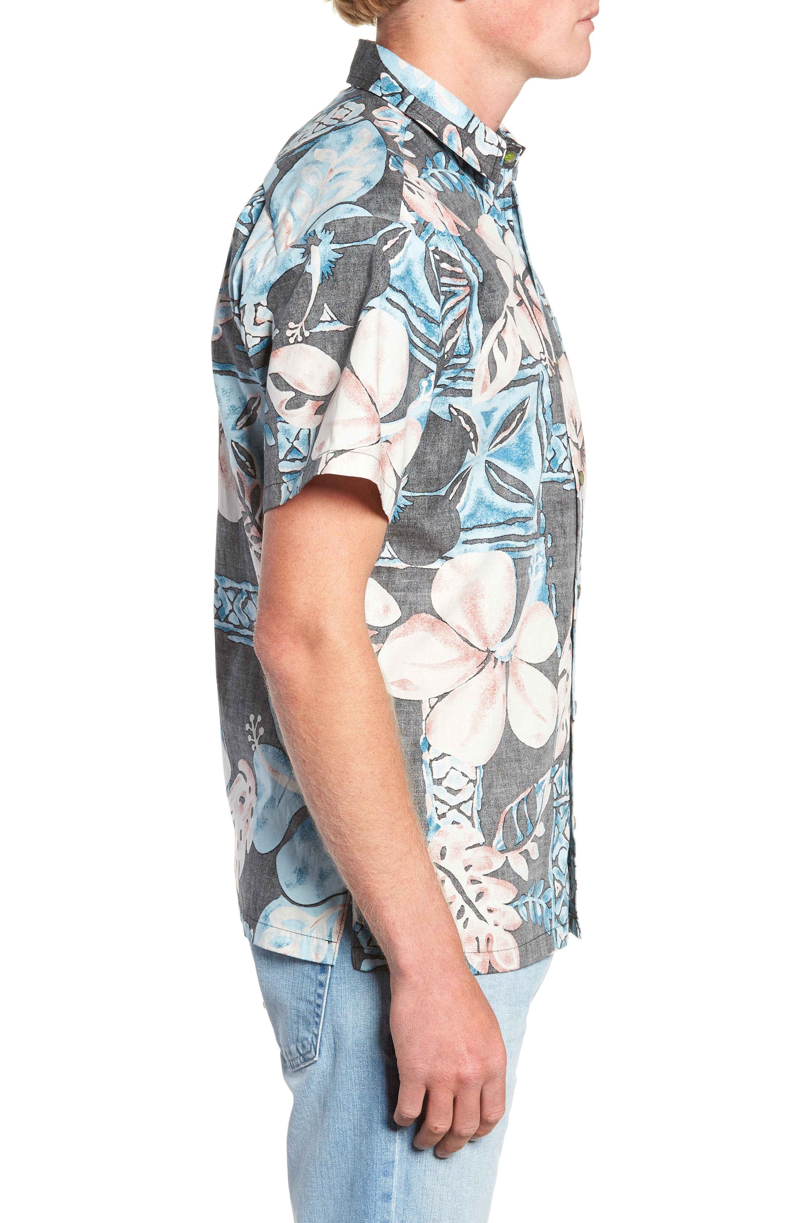 Ahiahi Classic Fit Sport Shirt,                             Alternate thumbnail 4, color,                             BLACK