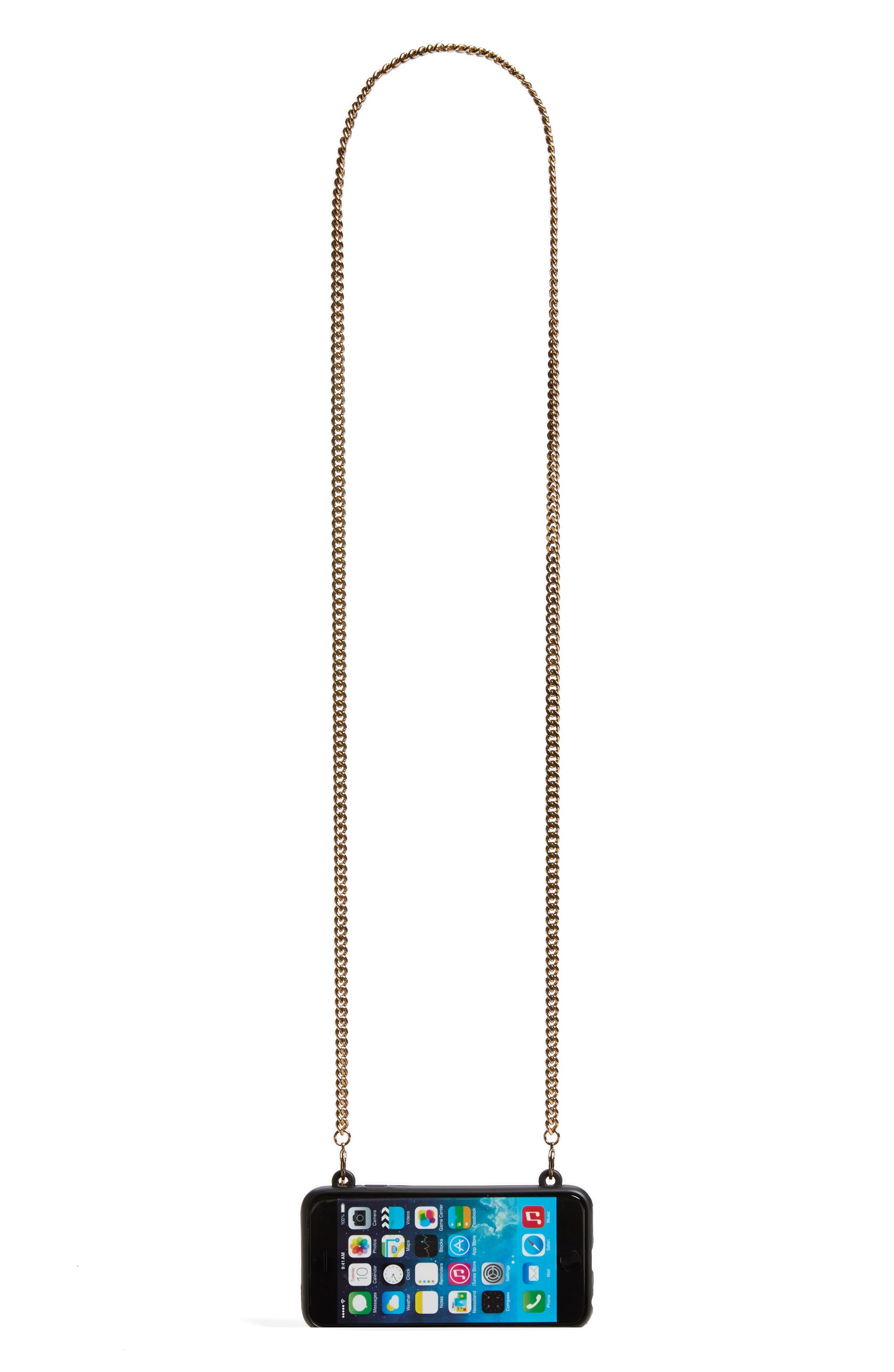 'Stella' iPhone 6 & 6s Crossbody Chain Case,                             Alternate thumbnail 4, color,                             001